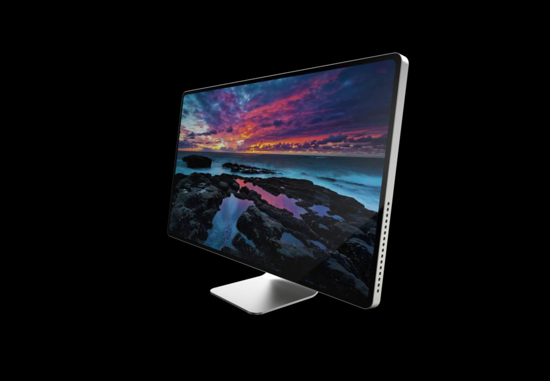 Apple Silicon搭載の新型iMacは23〜24インチ、30〜32インチの2種が登場か?筐体サイズは変わらず、ベゼルカットでディスプレイが大きくなる可能性 tech200709_imac_main