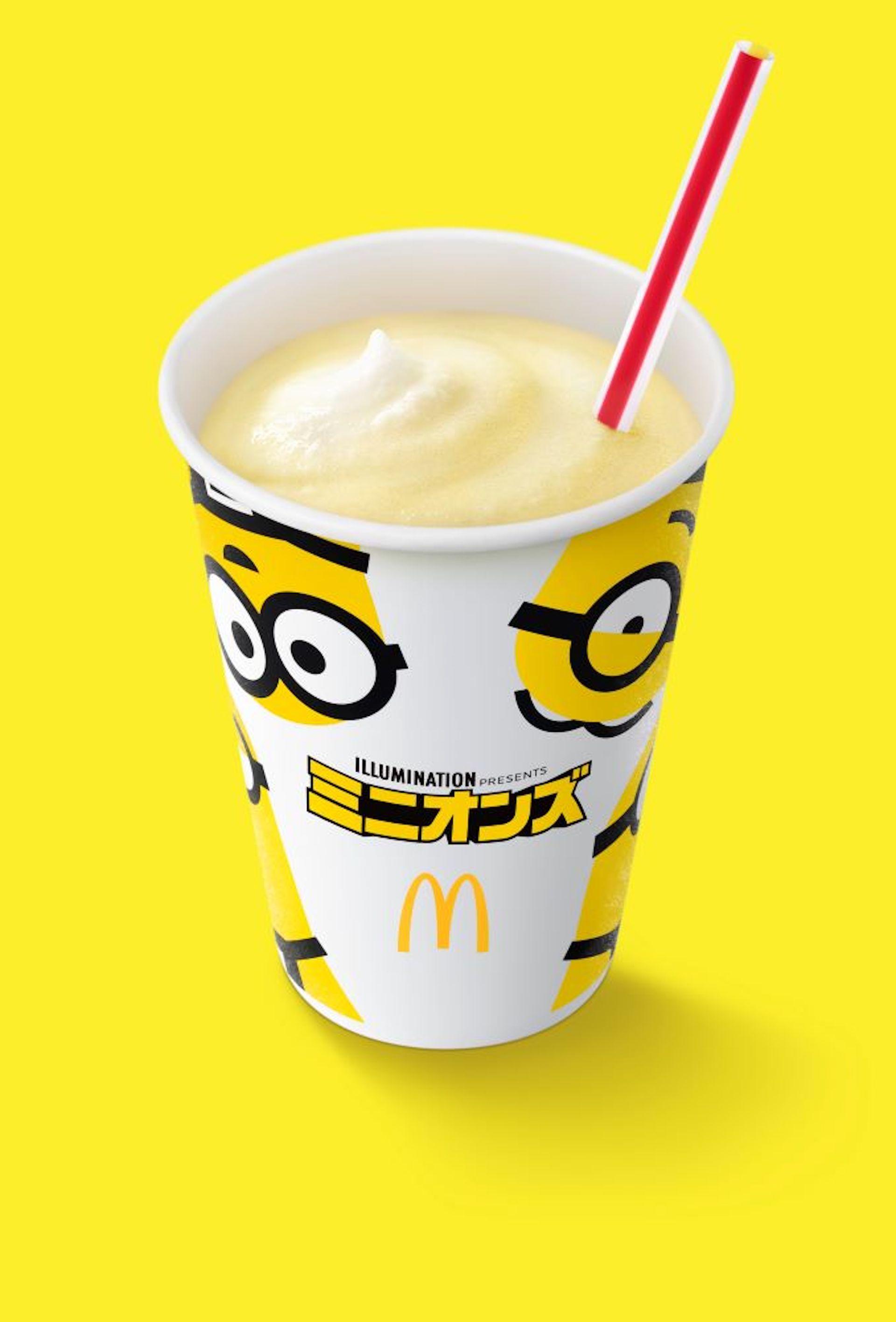 マクドナルドがミニオンズとコラボ!「マックシェイク」バナナ味&ワッフルコーン チョコバナナ、ハッピーセットも登場 gourmet200710_mcdonald_2