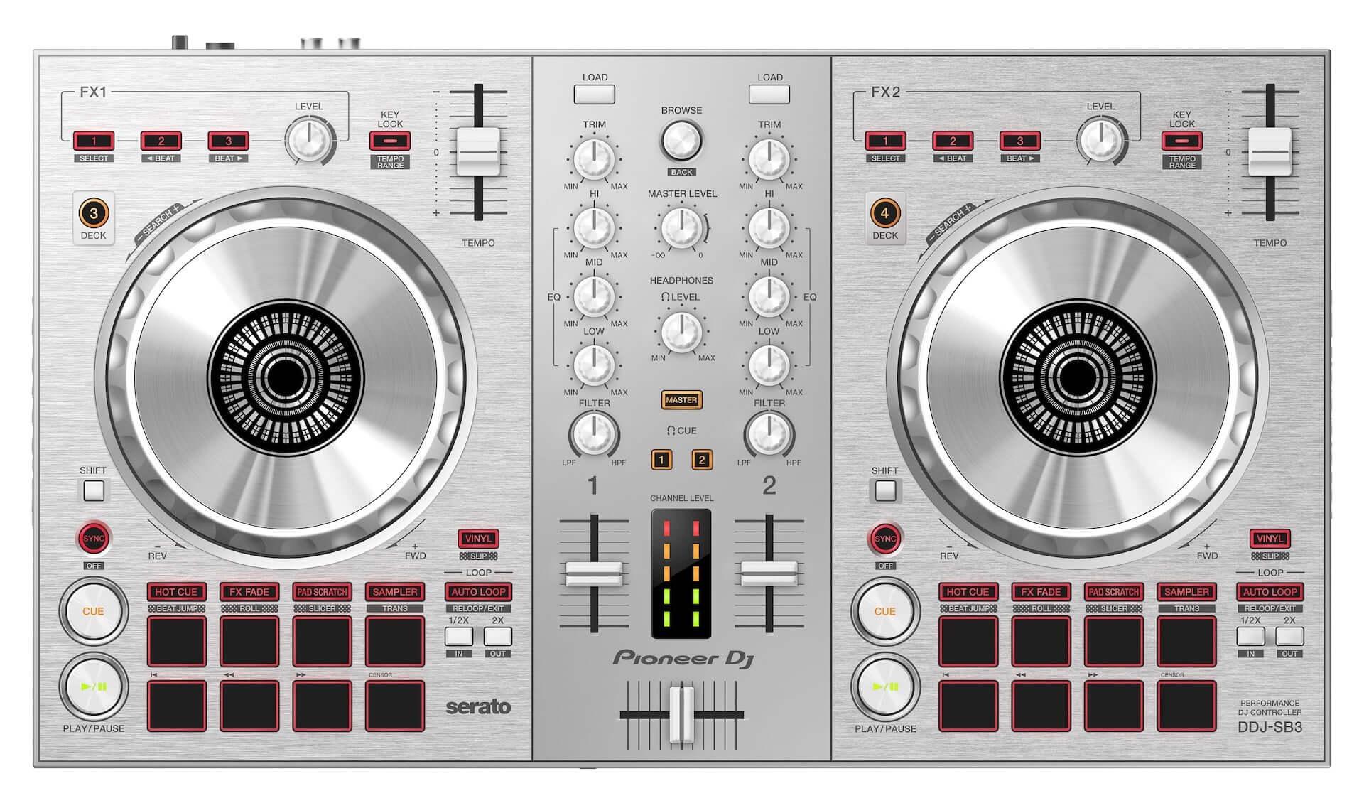 DJ初心者にもおすすめ!Serato DJ Lite対応DJコントローラー『DDJ-SB3』に限定ピュアシルバーカラーが登場 tech200714_ddjsb3_1-1920x1137