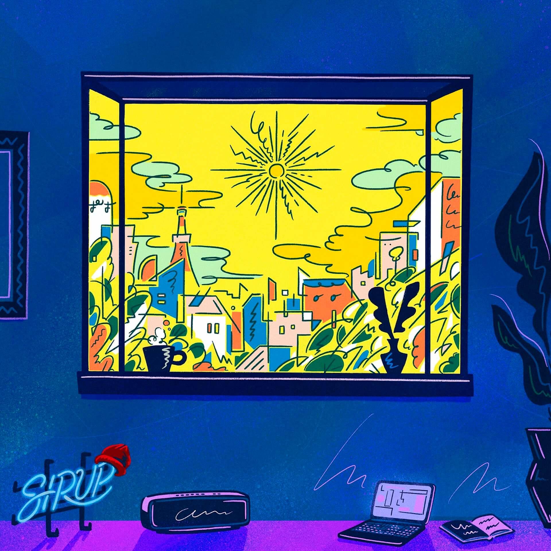 "SIRUPがUKのプロデューサー・ROMderfulとコラボした新曲""Online""をリリース決定|ジャケットデザインはOTANIJUN. music200715_sirup_1-1920x1920"