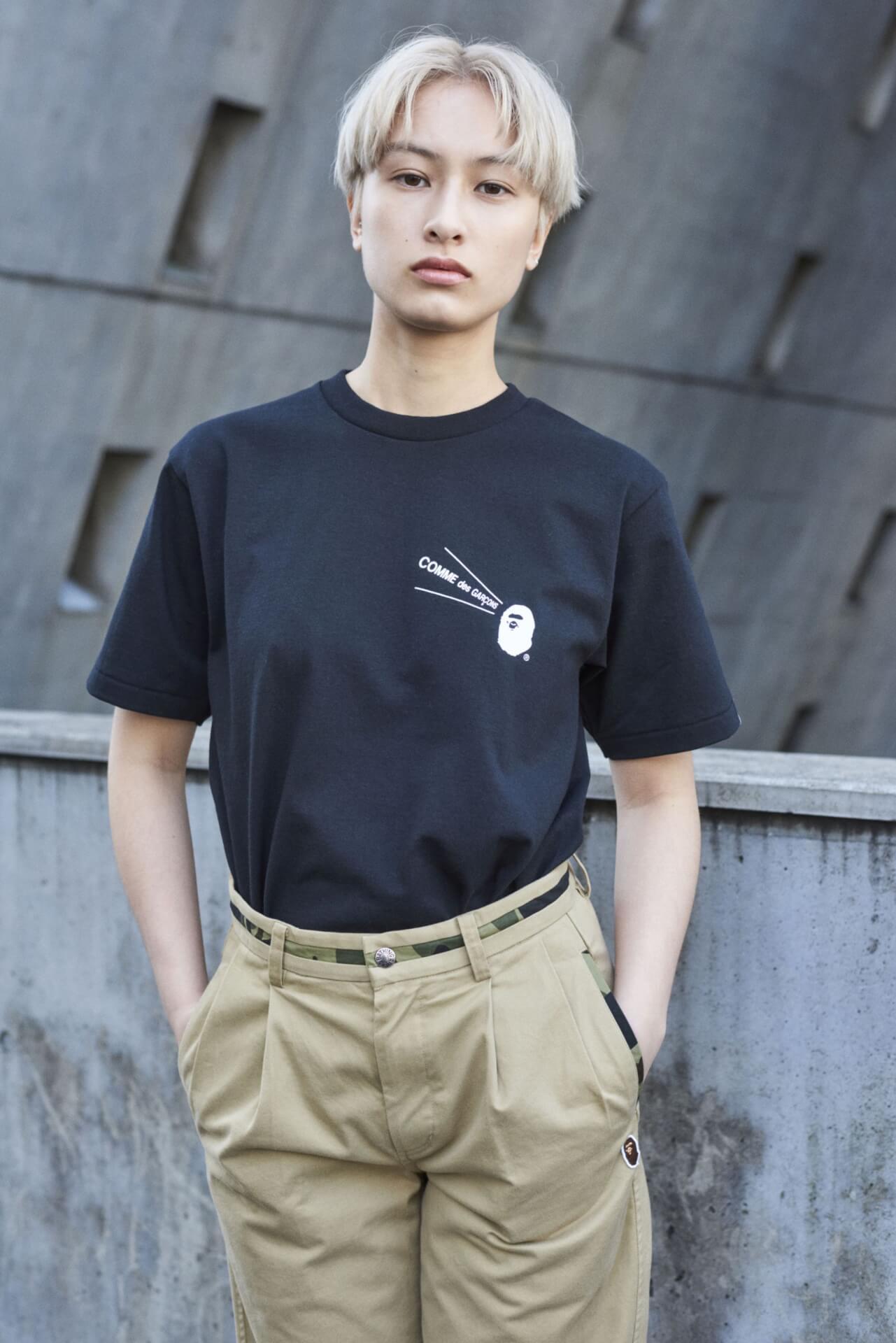 A BATHING APEとCOMME des GARCONSのコラボTシャツやフーディがBAPE STOREコムデギャルソン大阪限定でリリース! lf200720_bape_garcons_05