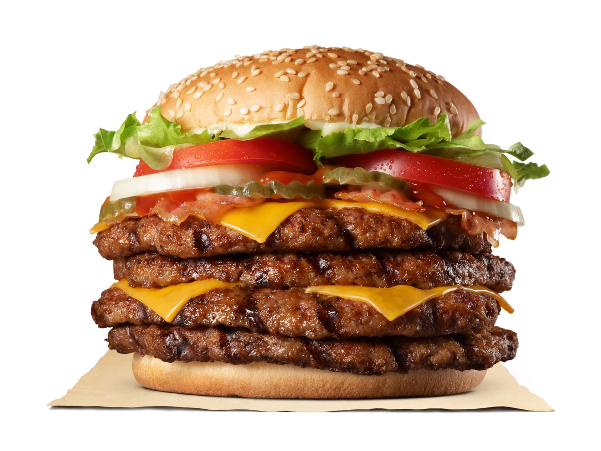 バーガーキングの人気シリーズ・ワンパウンドビーフバーガーが超パワーアップ!総重量607gの『マキシマム超ワンパウンドビーフバーガー』が数量限定発売 gourmet200721_burgerking_5