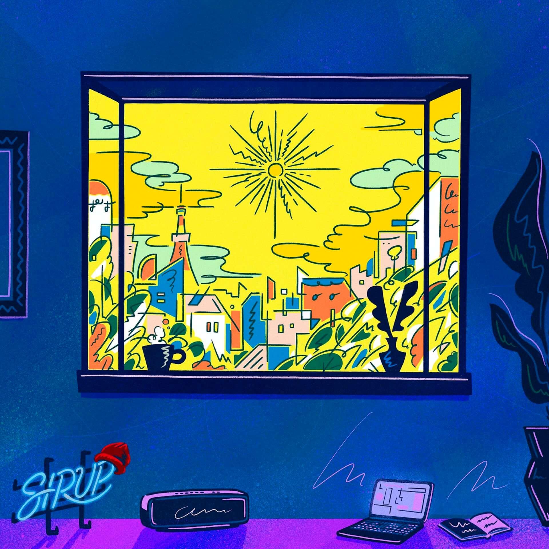 """<J-WAVE LIVE 2020>にも出演するSIRUPとUKのプロデューサー・ROMderfulのコラボ曲""""Online""""が本日リリース! music200722_sirup_1-1920x1920"""