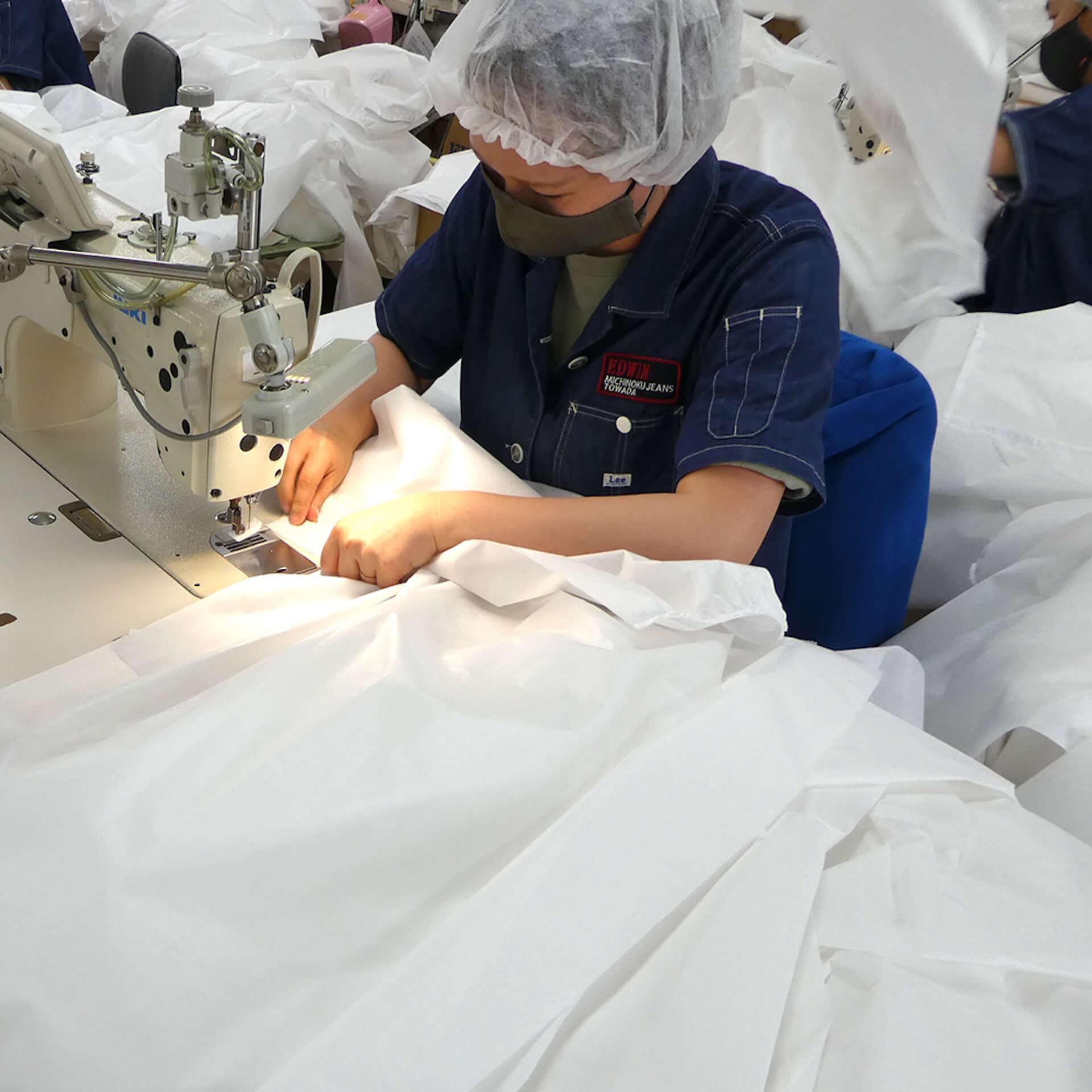 EDWINがアイソレーションガウンを自社縫製工場にて生産開始&オンライン販売もスタート! lf200722_edwin_7-1920x1920