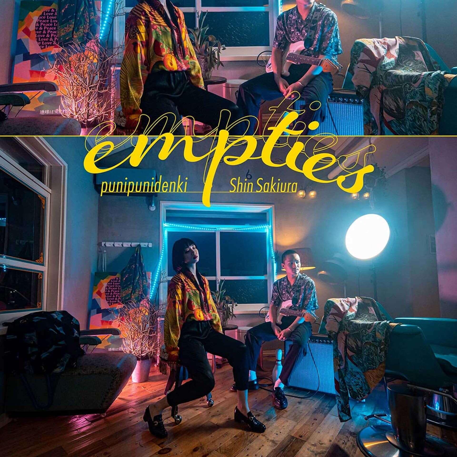 """ぷにぷに電機がShin Sakiuraとのコラボ曲""""empties""""を〈PARK〉からリリース決定!テーマは「真夏の夜の嫉妬と妄想」 music200727_punipunidenki_3-1920x1920"""