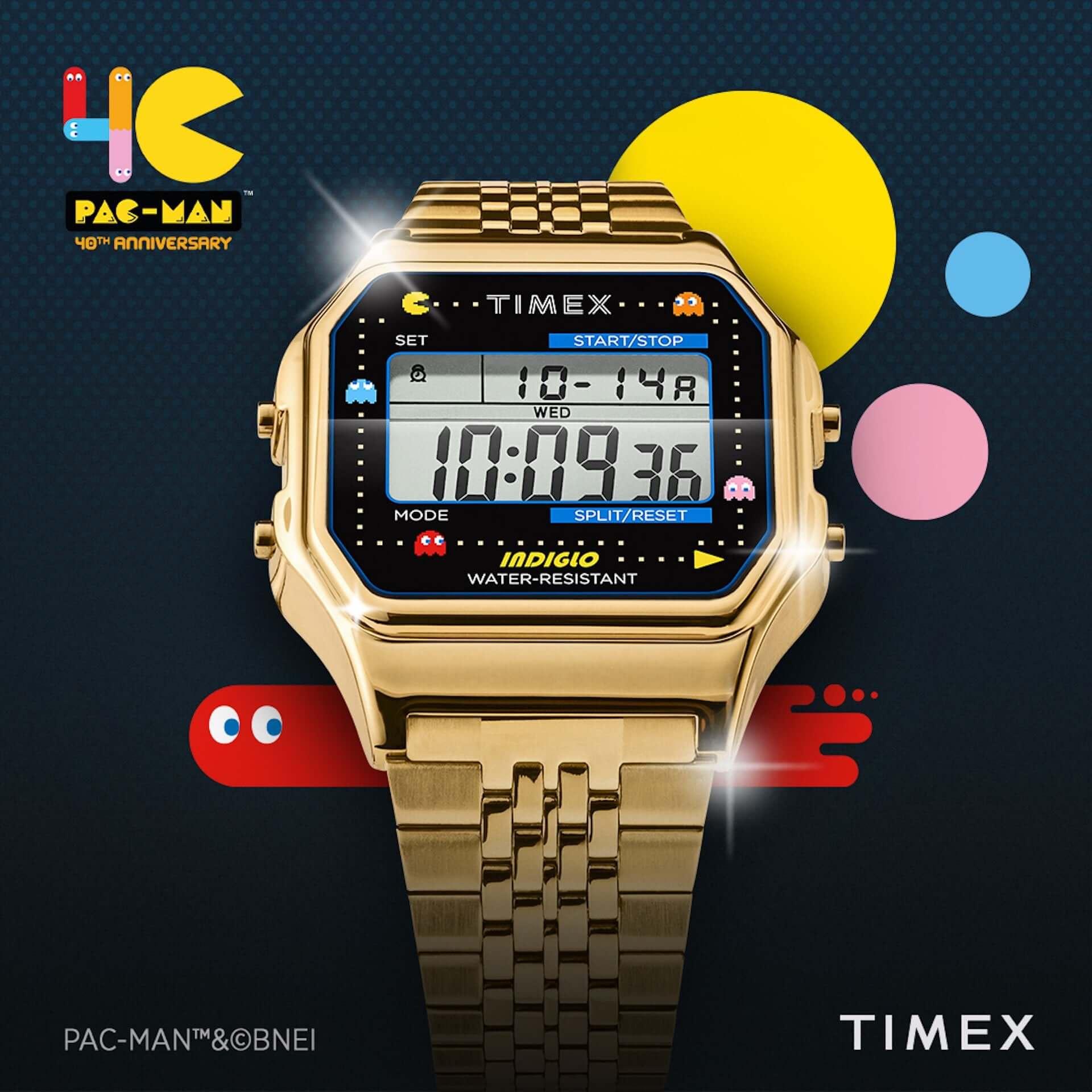 『パックマン』生誕40周年記念!米国の腕時計ブランド「タイメックス」から昨年即完売したコラボモデルが発売決定 tech200729_timex-pacman_6-1920x1920