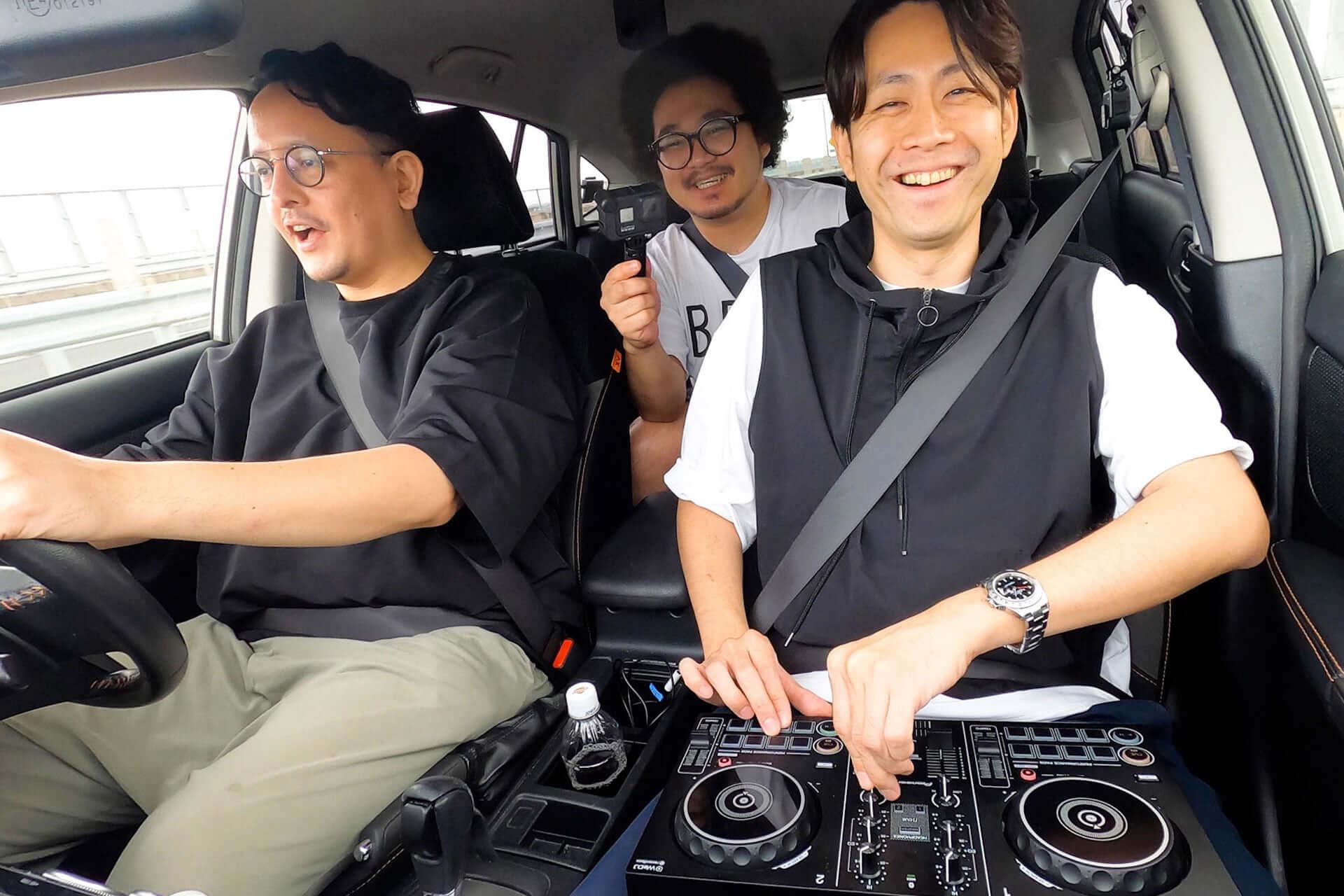 アフロマンス、TJO、DJ KOMORIがPioneer DJ『DDJ-200』と共にドライブ!「DRIVE DJ」を実践した特別映像が公開 music200805_drive-dj_3-1920x1280
