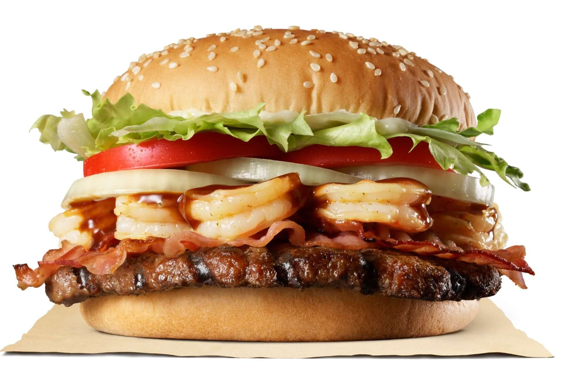 バーガーキングから魚介×牛肉を堪能できる新商品『バーベキュー6シュリンプワッパー(R)』が期間限定で登場!公式アプリではクーポンも配信 gourmet200806_burgerking_2-1920x1276