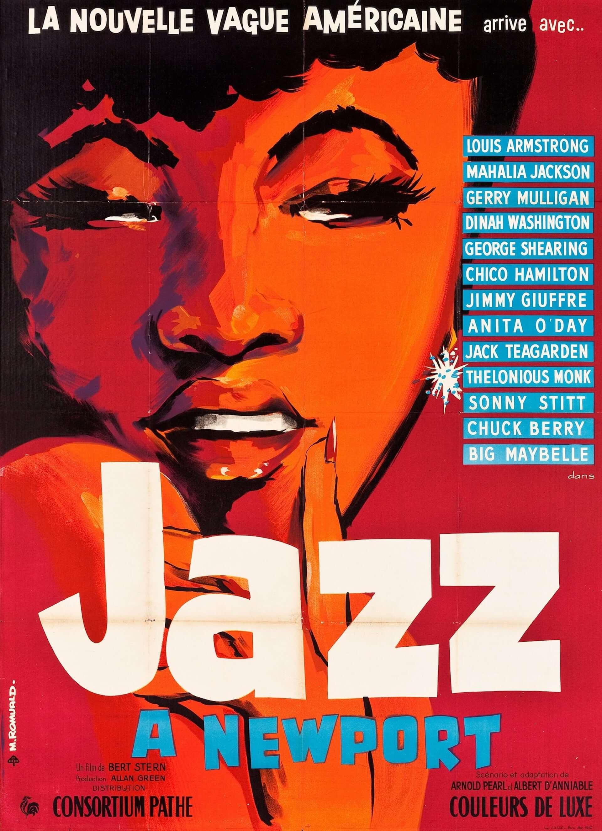 米最大級のフェスを追ったドキュメンタリー『真夏の夜のジャズ 4K』のビジュアルが4枚同時公開!1959年公開当時のフランス版&プレスブックの表紙も film200808_jazz4k_1-1920x2650