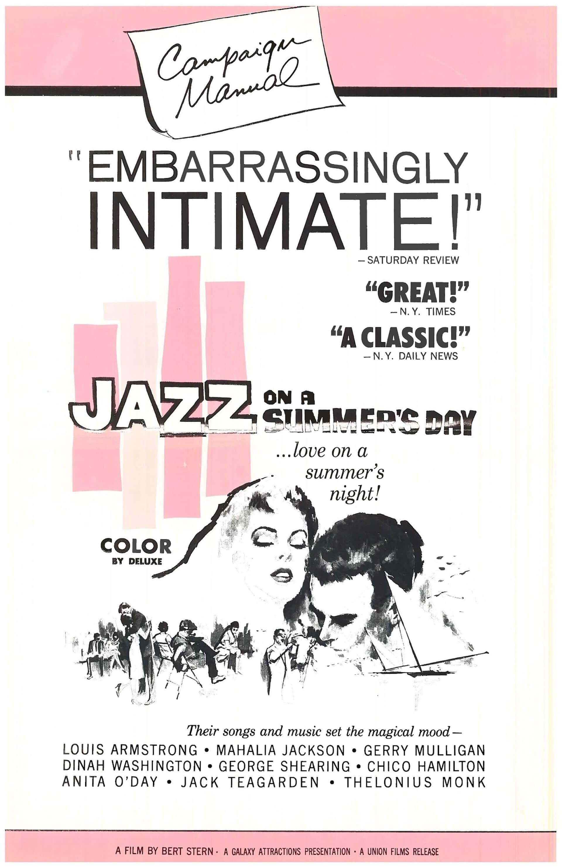 米最大級のフェスを追ったドキュメンタリー『真夏の夜のジャズ 4K』のビジュアルが4枚同時公開!1959年公開当時のフランス版&プレスブックの表紙も film200808_jazz4k_3-1920x2966