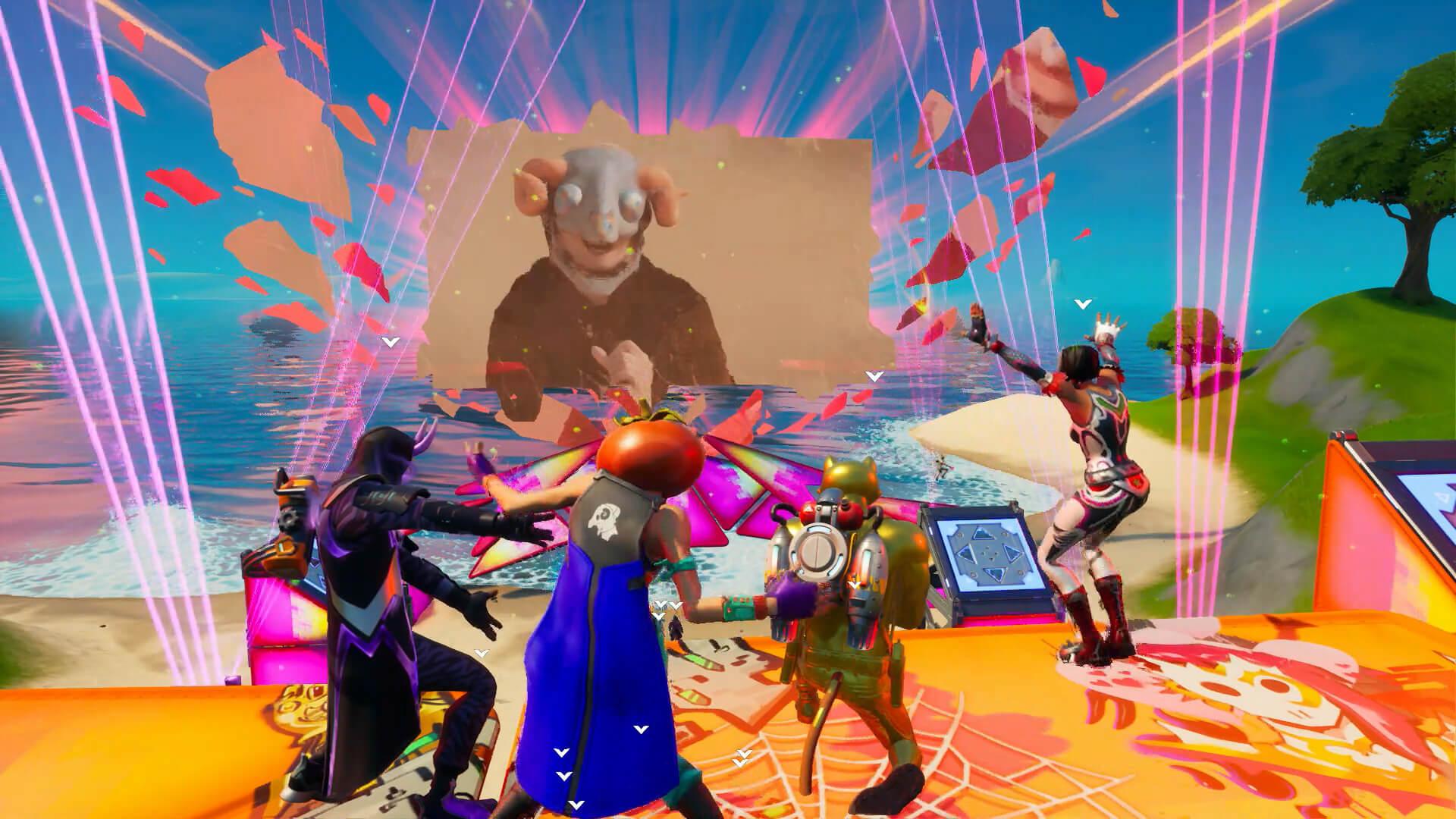 """米津玄師、『フォートナイト』パーティーロイヤルで""""新しく美しい一瞬""""を世界中のファンと共有! tech200807_yonezukenshi_fortnite_14"""