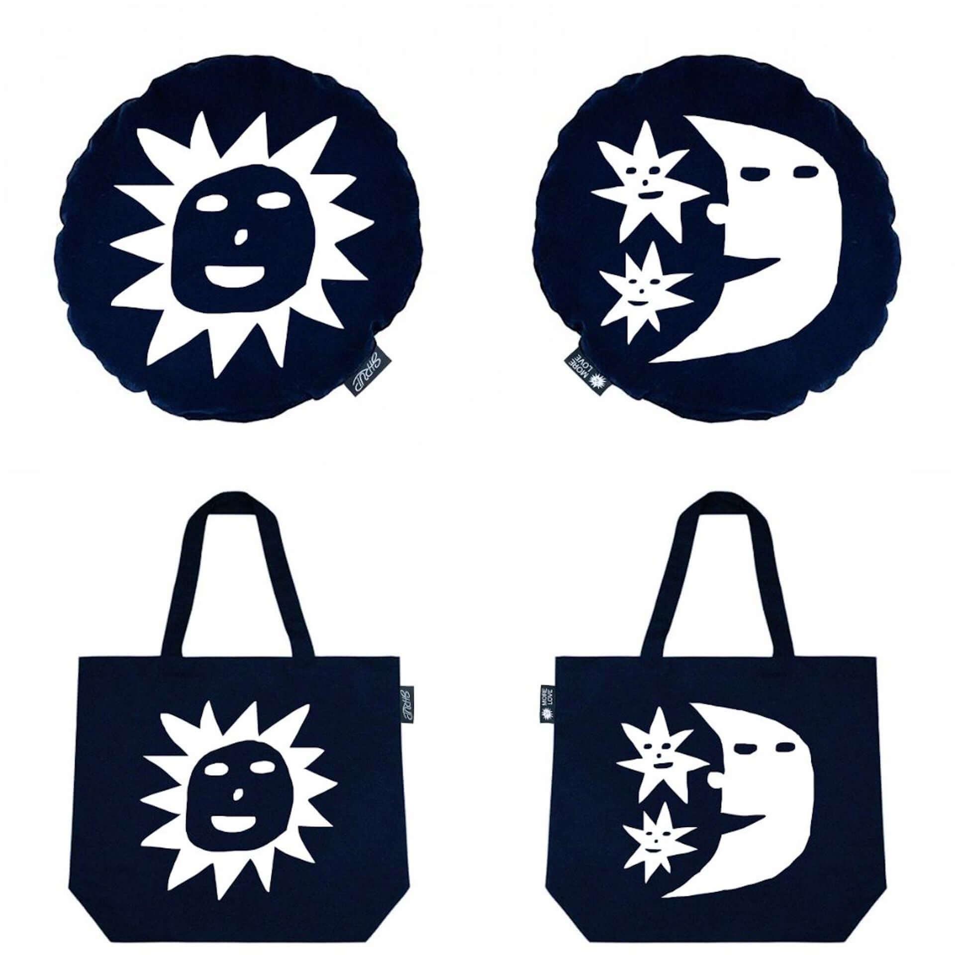 SIRUPらによるSustAimとHOTEL SHE,のコラボグッズ第2弾が限定販売決定!Kentaro Okawaraがデザインしたクッション&トートバッグが登場 art200817_sustaim-hotelshe_1-1920x1920