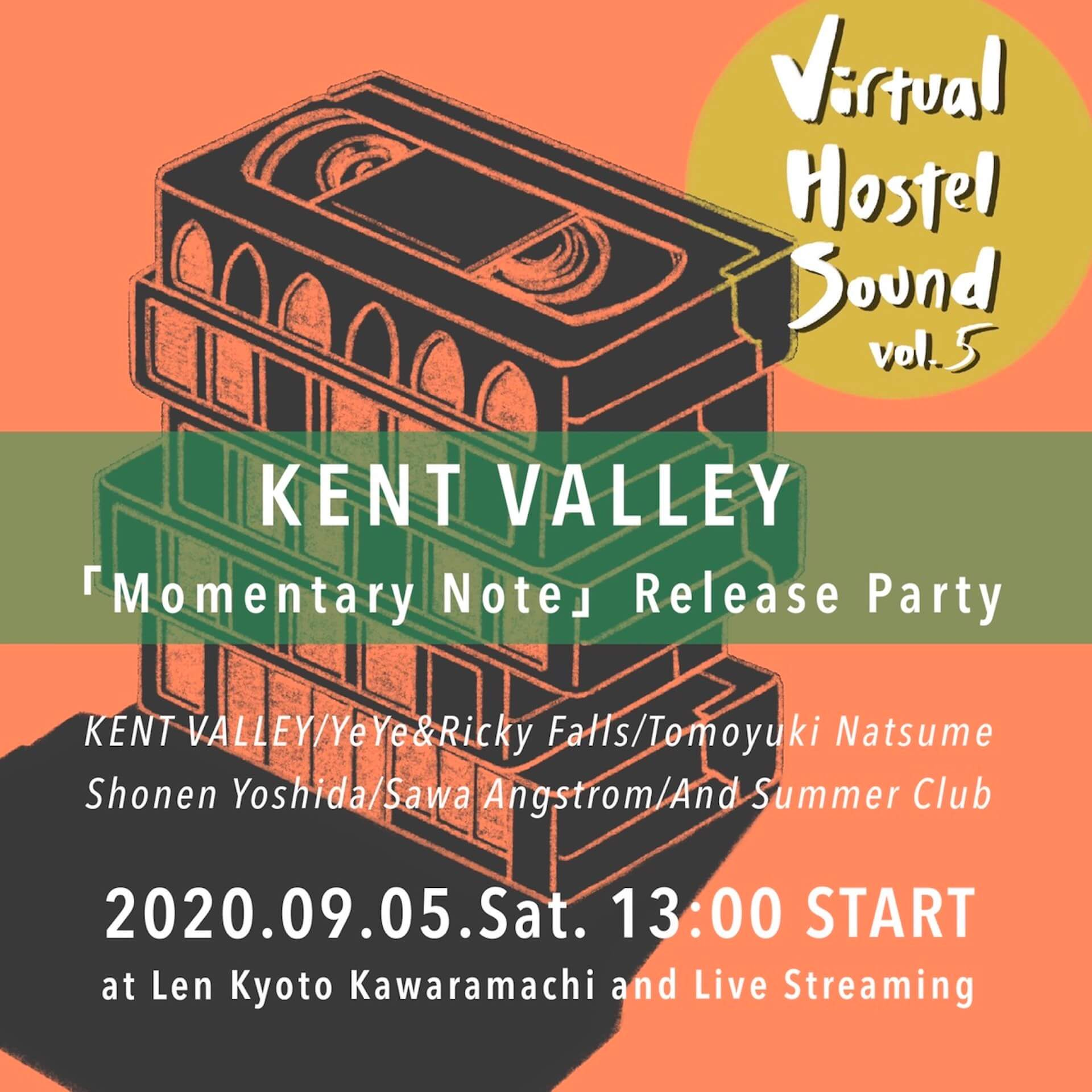 KENT VALLEY待望のミニアルバム『Momentary Note』がリリース!夏目知幸ら参加のレコ発イベントも京都Lenで開催決定 music200819_kentvalley_02