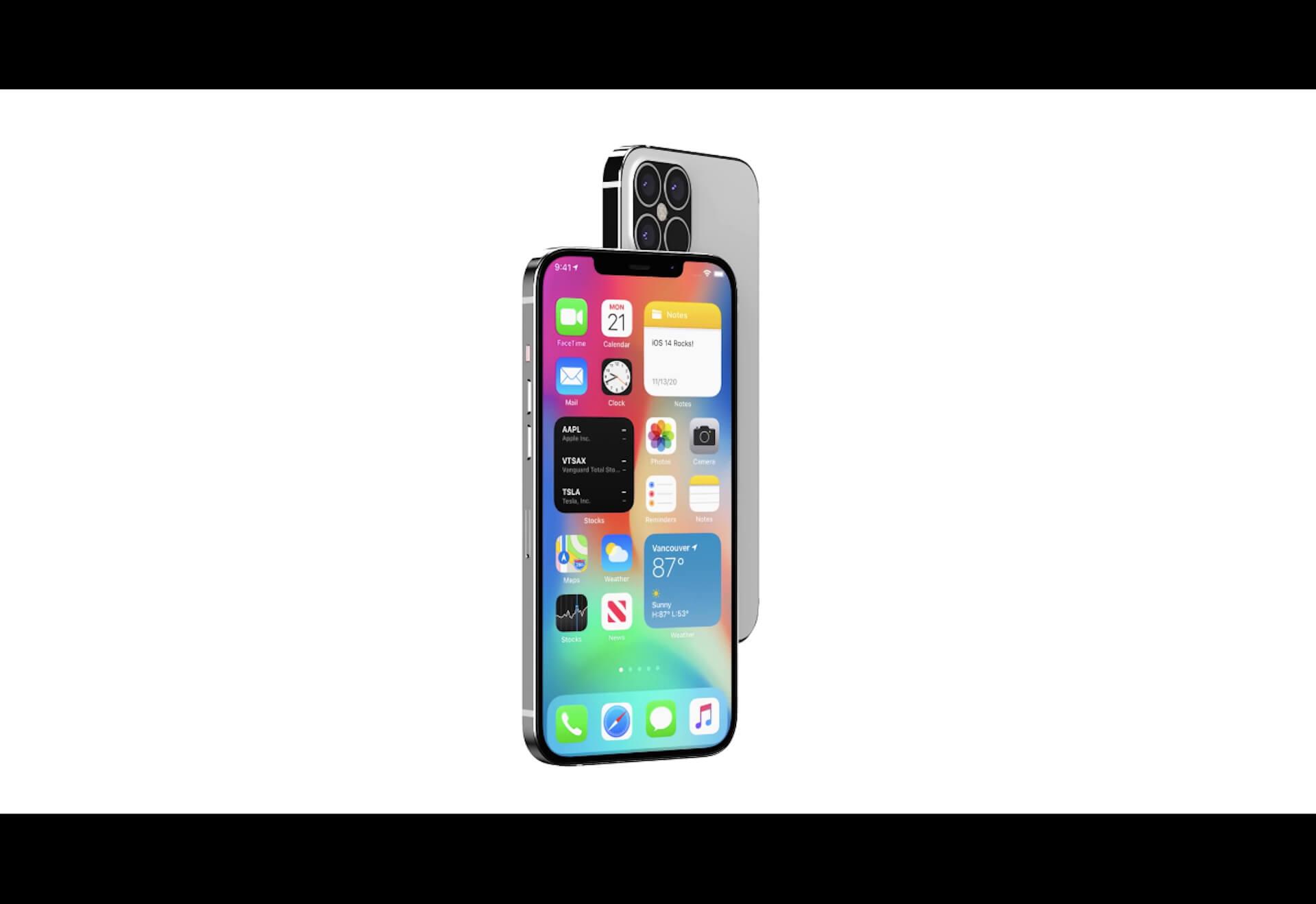 iPhone 12 Pro Maxのノッチ幅はあまり変わらず?LiDARスキャナ搭載は確定か|生産検証試験用モデルのリーク映像&画像が公開 tech200826_iphone12_notch_main
