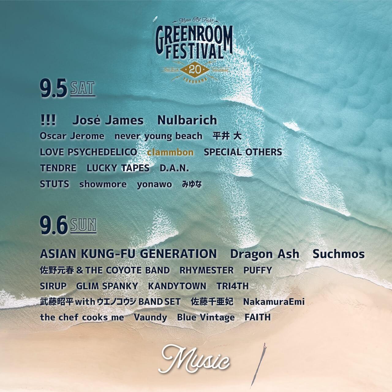 <GREENROOM FESTIVAL'20>が開催中止に music200801-greenroomfestival-2