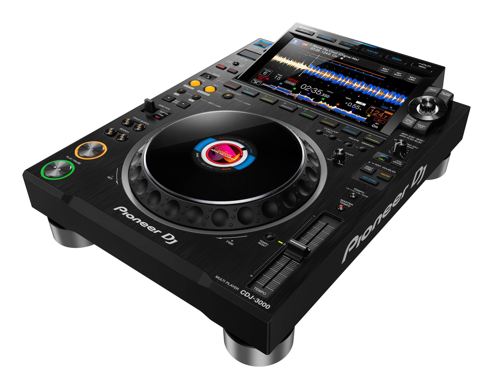 Pioneer DJからCDJシリーズ最新モデル「CDJ-3000」が登場!限定モデル「CDJ-3000-W」も tech200910_cdj_3000_1