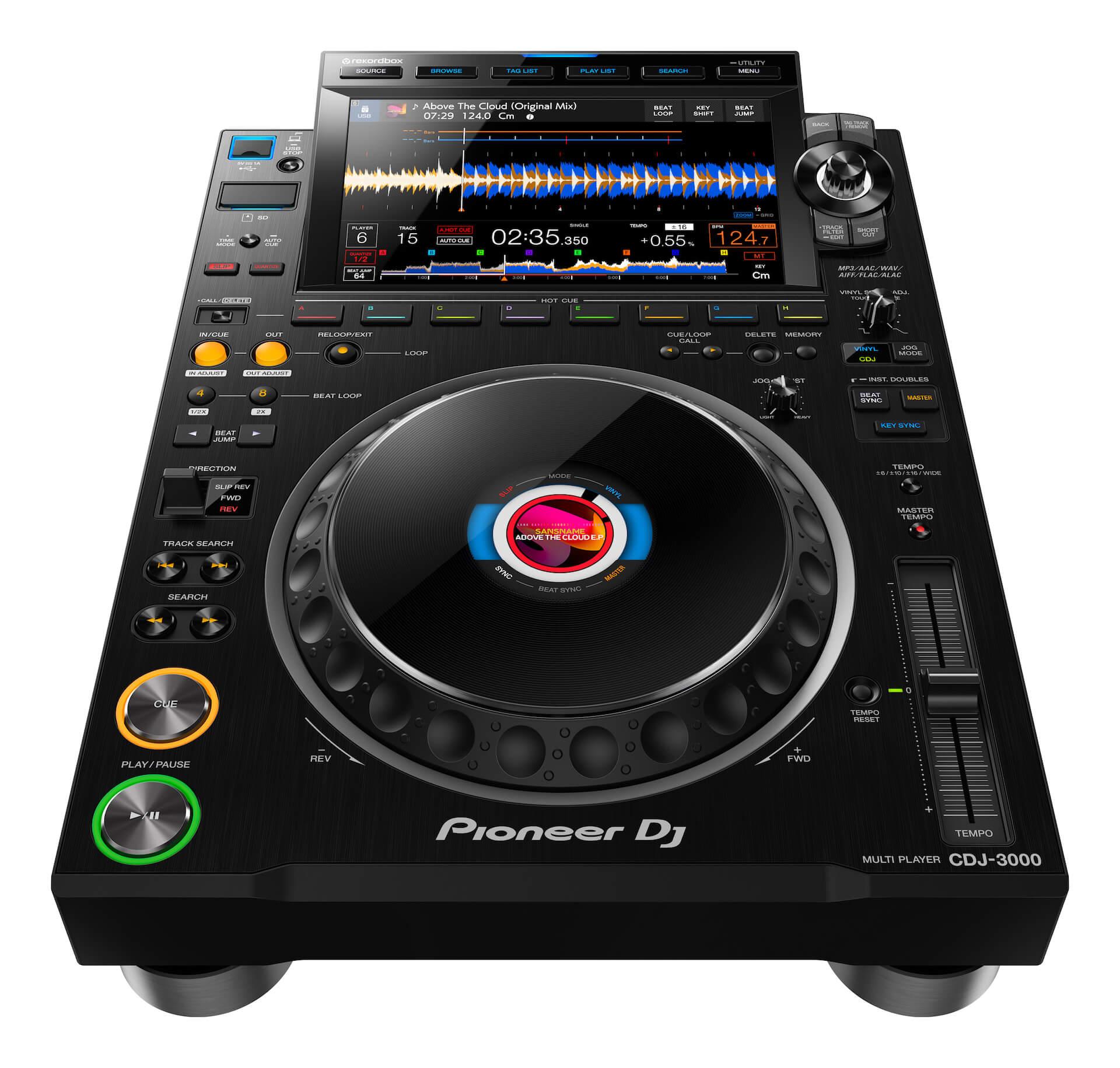 Pioneer DJからCDJシリーズ最新モデル「CDJ-3000」が登場!限定モデル「CDJ-3000-W」も tech200910_cdj_3000_3