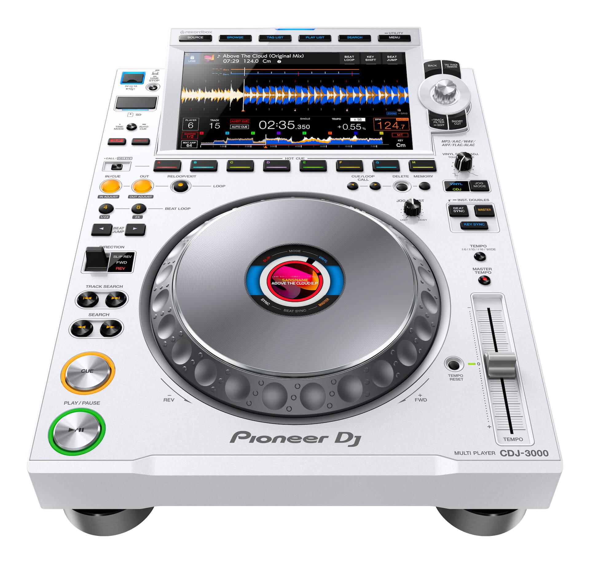 Pioneer DJからCDJシリーズ最新モデル「CDJ-3000」が登場!限定モデル「CDJ-3000-W」も tech200910_cdj_3000_9