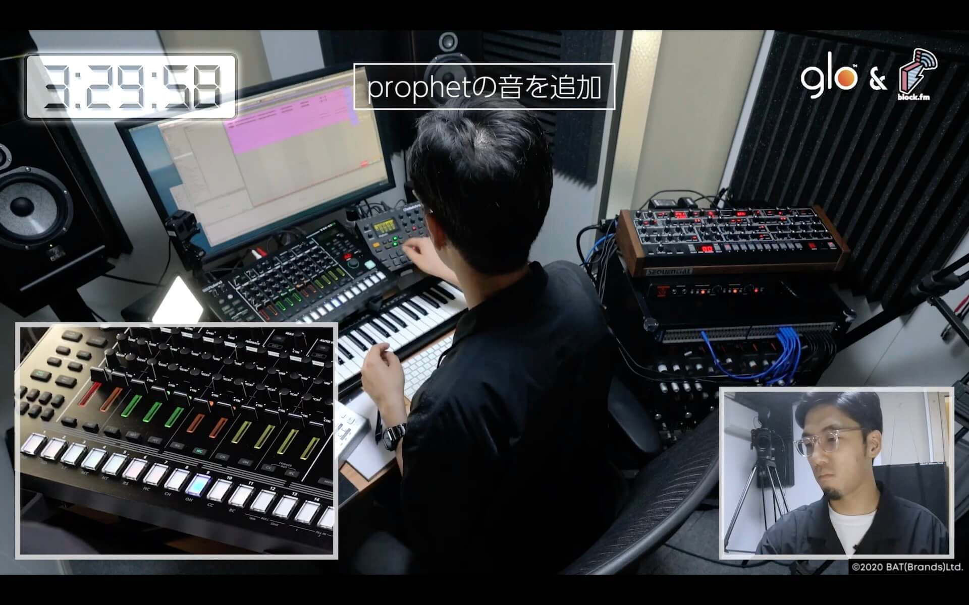 Seiho、tofubeats、Yamato、☆Taku Takahashiが様々なお題に挑戦!glo™とblock.fmが贈る動画シリーズが公開 music200916_glo-blockfm_4-1920x1200