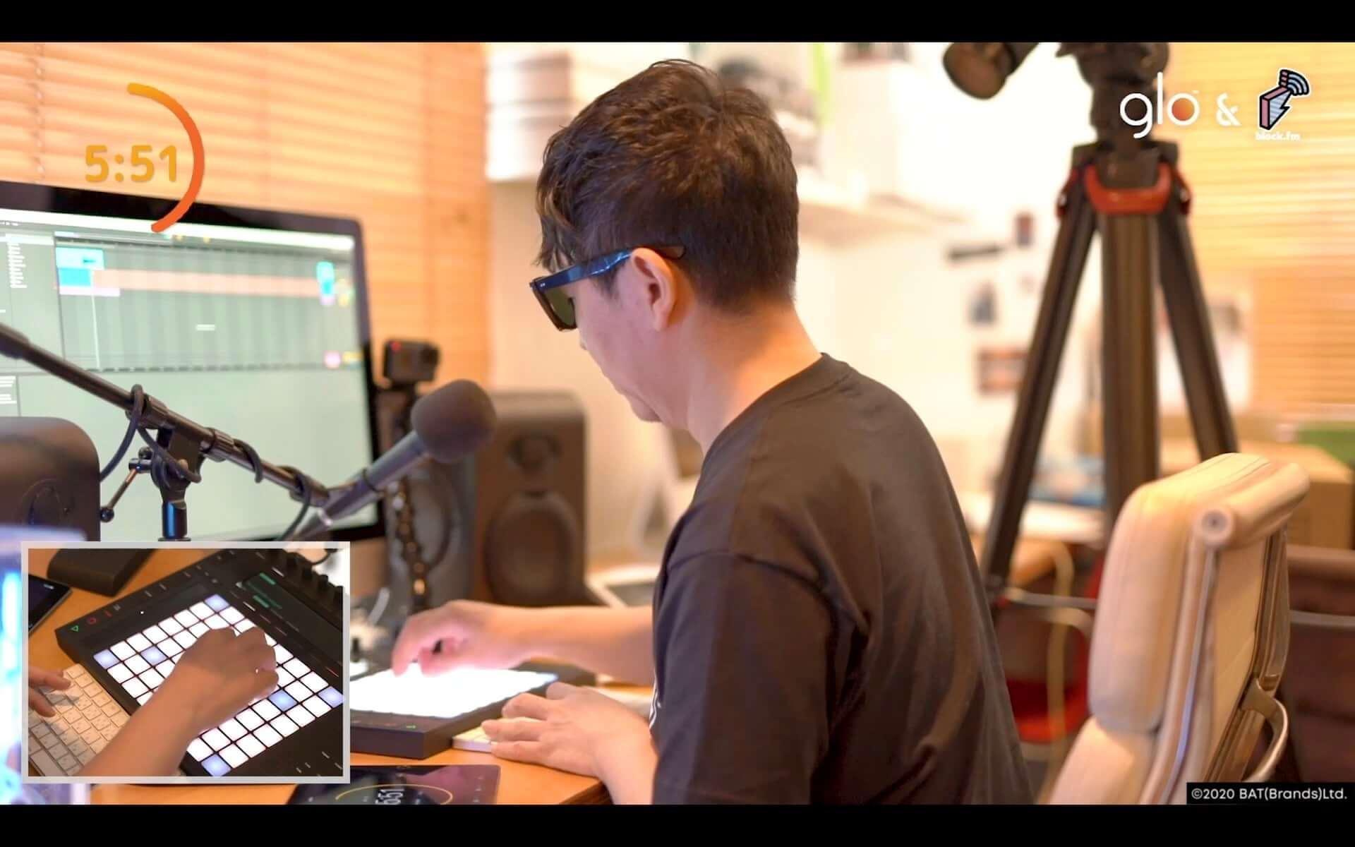 Seiho、tofubeats、Yamato、☆Taku Takahashiが様々なお題に挑戦!glo™とblock.fmが贈る動画シリーズが公開 music200916_glo-blockfm_13-1920x1200