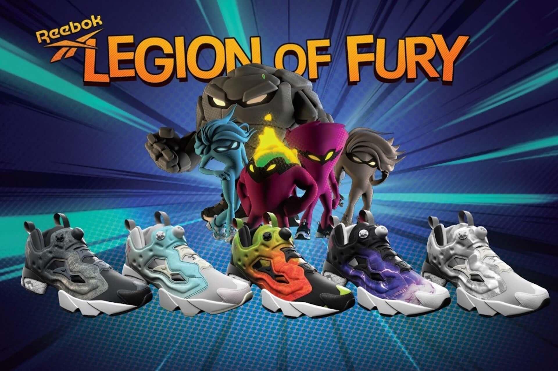 リーボック「INSTAPUMP FURY」の最新コレクション「LEGION OF FURY」が発売決定!未発表キャラクターが25年越しに初公開 lf200929_reebok_20-1920x1278
