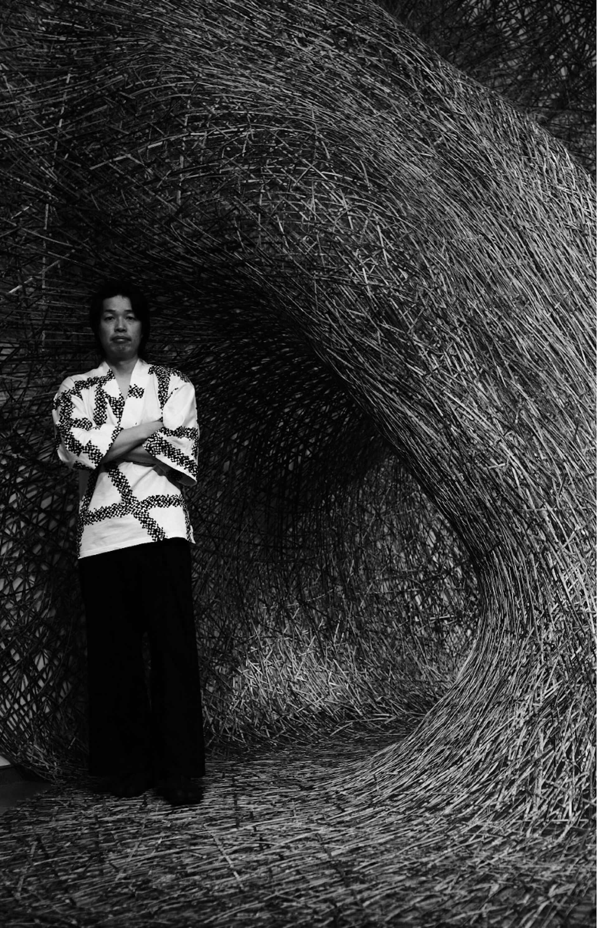 美術工芸家・四代田辺竹雲斎の展覧会<CHIKUUNSAI IV ∞>が銀座 蔦屋書店「GINZA ATRIUM」にて開幕!巨大インスタレーションの公開制作も実施 art201006_ginzatsutaya-chikuunsai_1-1-1920x2978