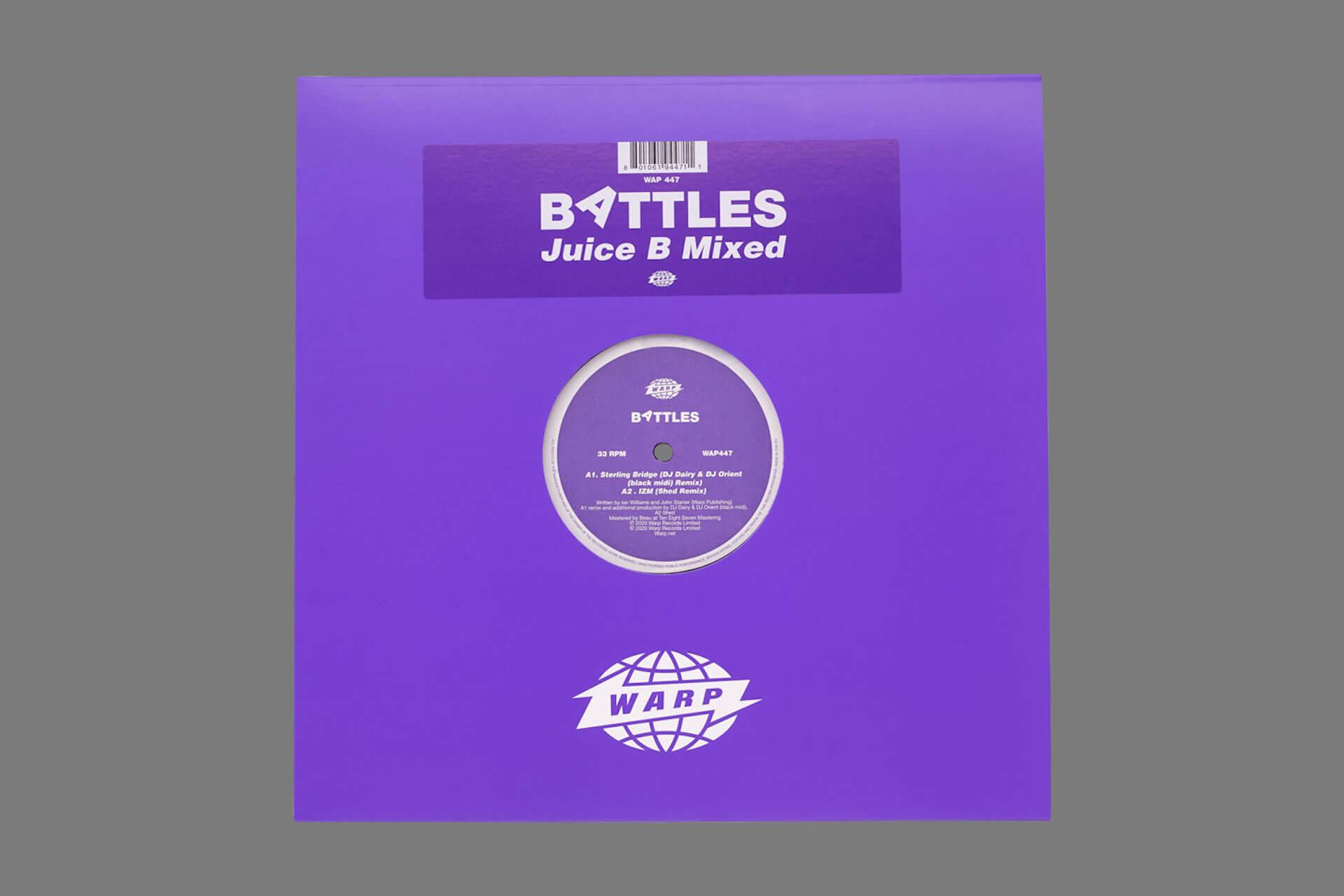"""Battles最新作『Juice B Crypts』のリミックスEP『Juice B Mixed』にblack midi、Shedら参加決定!black midiによるリミックス曲""""Stirling Bridge""""が先行解禁 music201007_battles_6"""