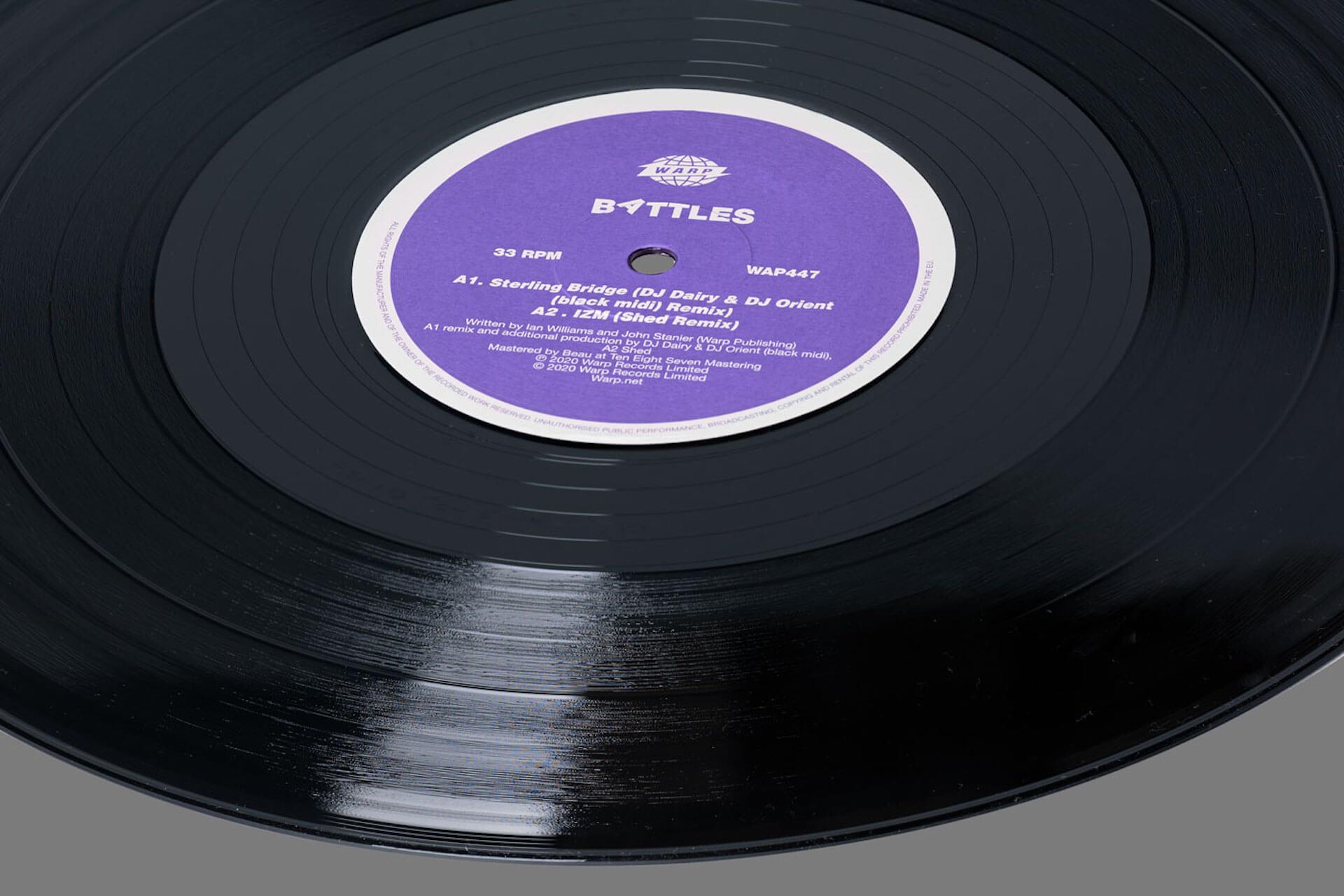 """Battles最新作『Juice B Crypts』のリミックスEP『Juice B Mixed』にblack midi、Shedら参加決定!black midiによるリミックス曲""""Stirling Bridge""""が先行解禁 music201007_battles_8"""