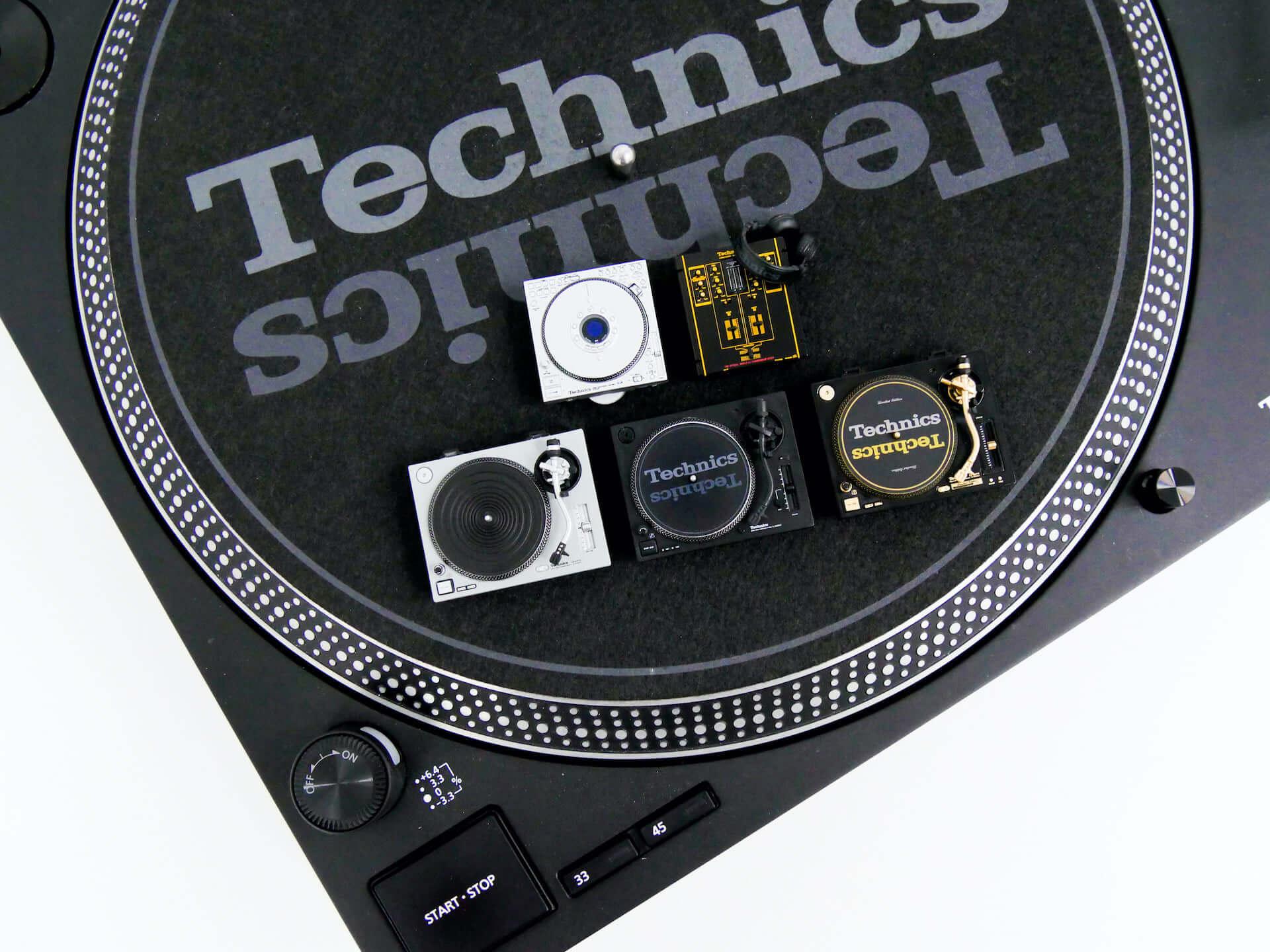 TechnicsのDJ機器『SL-1200MK2』など全5種がミニチュアフィギュア化!ケンエレファントより発売決定 tech201009_technics_1-1920x1440