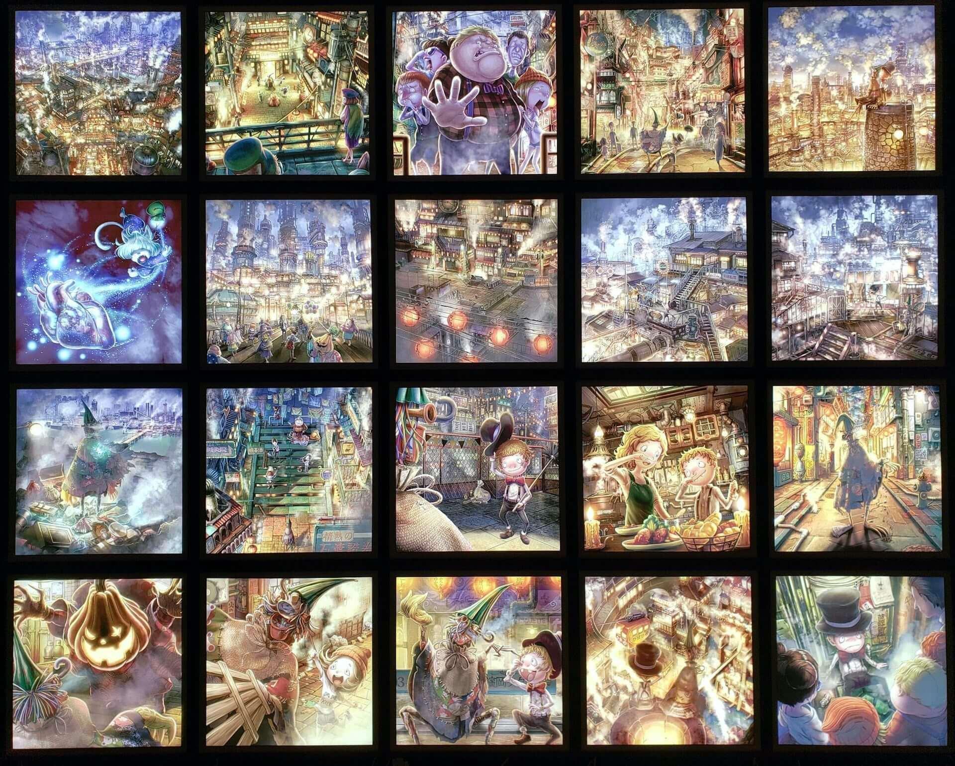 西野亮廣『えんとつ町のプペル』の光る絵本展が宮城・KIBOTCHAにて開幕!アートフェス<なないろの芸術祭>と同時開催 art201021_poupelle-hikaruehonten_1-1920x1539