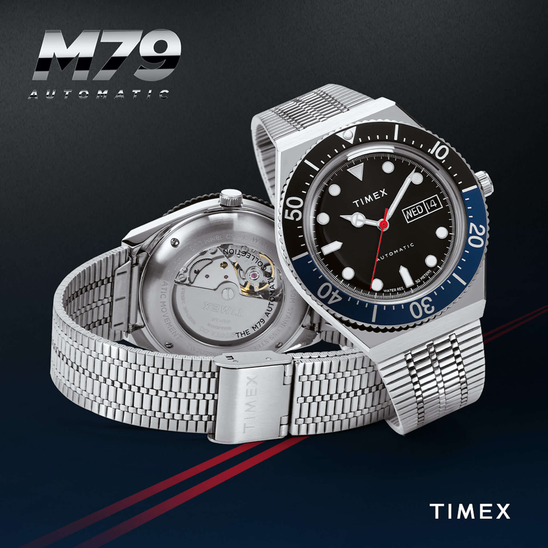 TIMEXの人気シリーズ『タイメックス キュー』に日本初上陸の派生モデル『M79』が登場!スケルトン仕様の裏蓋にも注目 tech201028_timex_3-1920x1920
