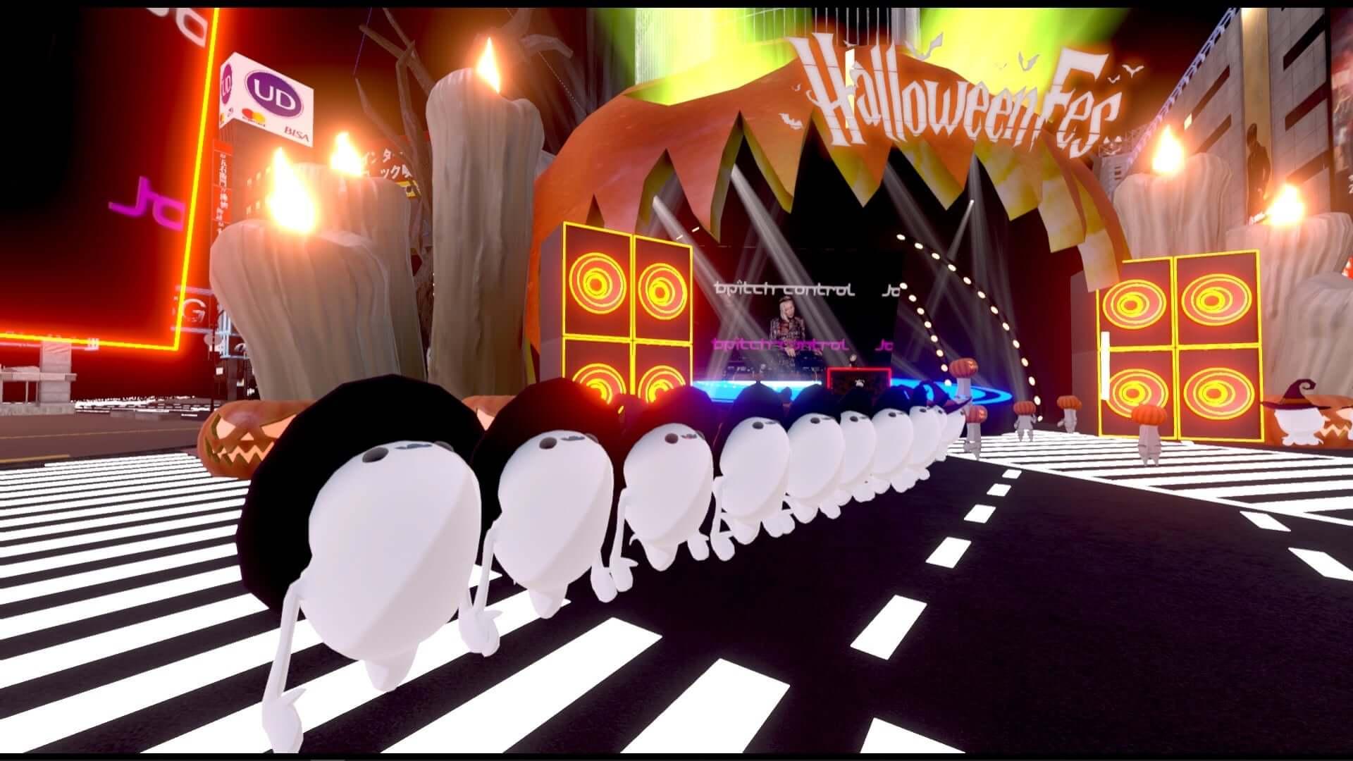 バーチャル渋谷にSUPER DOMMUNEが出現!Ellen Allien、KEN ISHIIらが出演した<DJ IN THE MIRROR WORLD>のレポートが到着 art201104_shibuya5g-halloweenfes_40-1920x1080