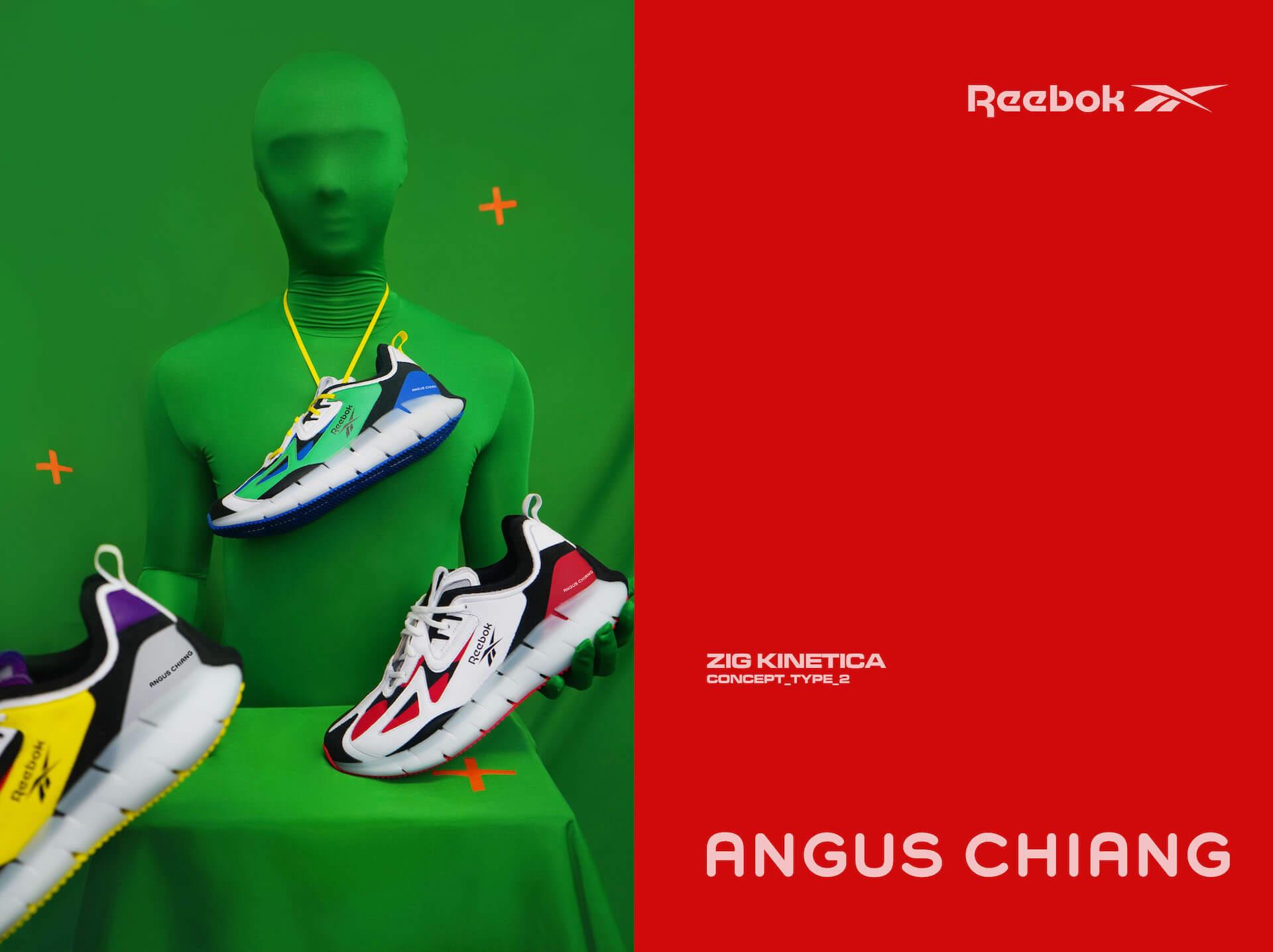 リーボックからアンガス・ジャンとのコラボシューズ『ANGUS CHIANG×ZIG KINETICA CONCEPT_TYPE_2』が登場!ポップで大胆なカラーリングに fashion2020106_reebok_5