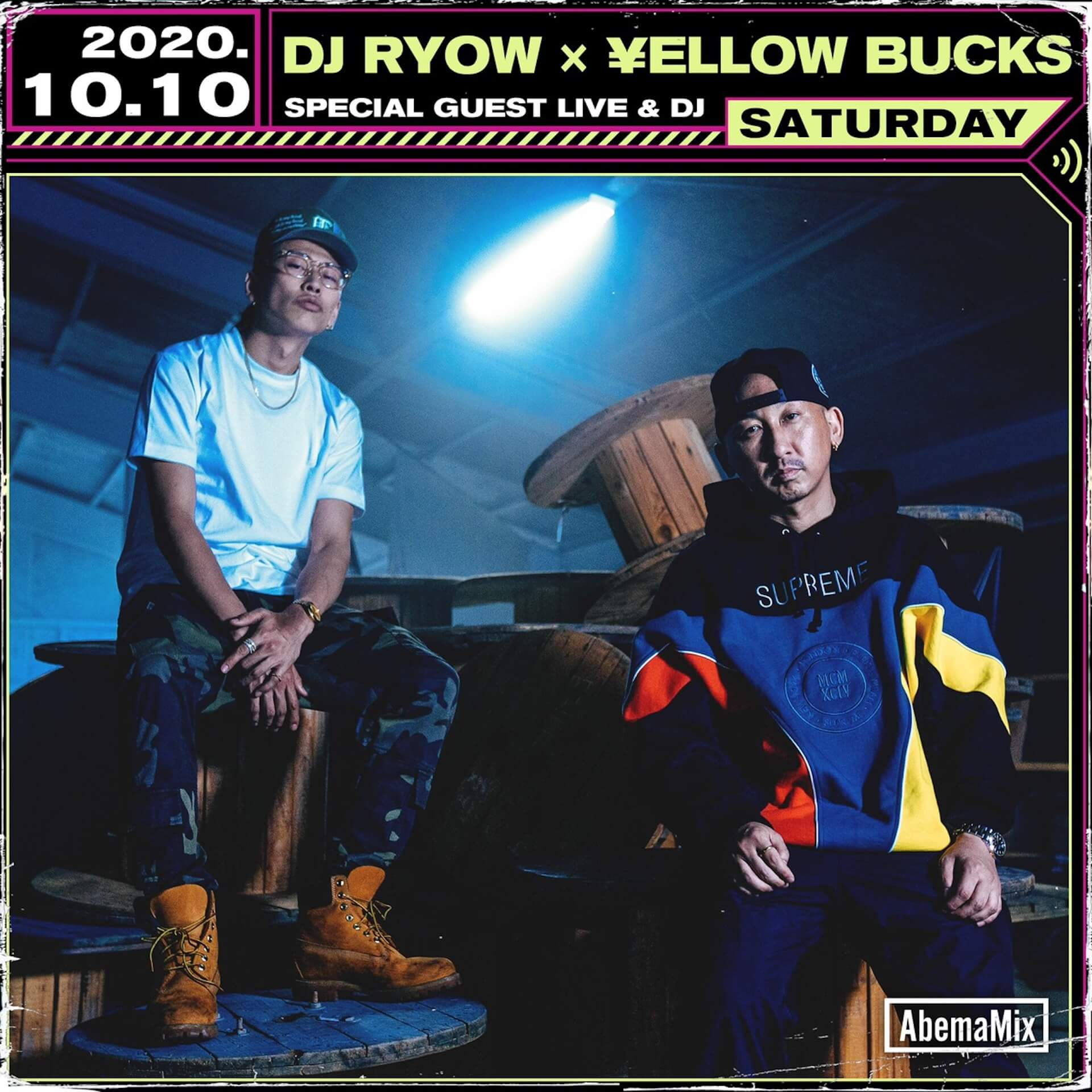 DJ RYOWと¥ellow Bucksのダブルネーム両A面シングル『GAMBLE | Need A Dr』が本日より配信リリース!同時にMVも公開 music2020109_djryow_yellowbucks_2