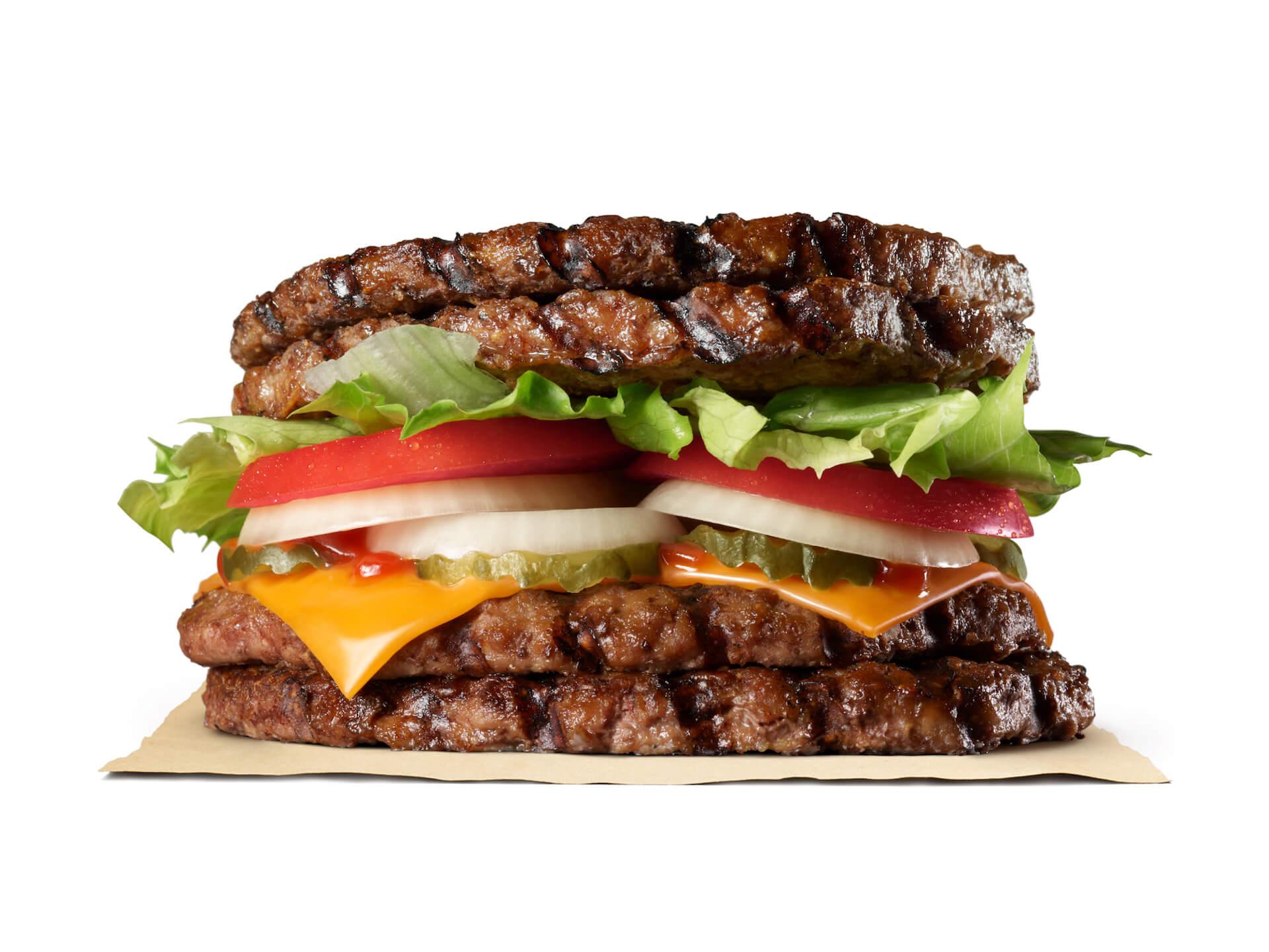 バーガーキングから初のバンズなしで肉づくしの『エクストリーム超ワンパウンドビーフバーガー』が新登場! gourmet201119_burgerking_5