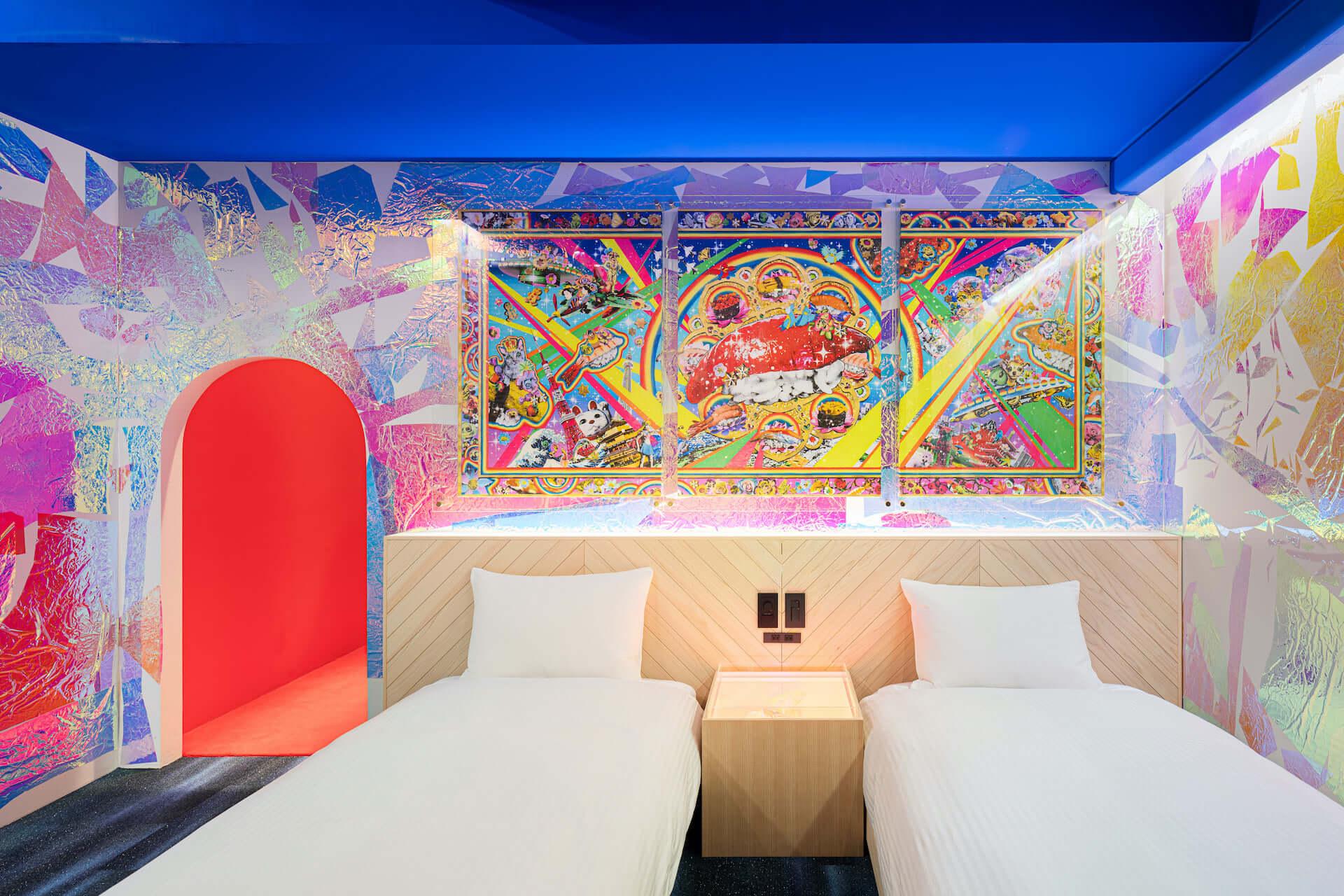 泊まれるアート作品が26部屋も!YOSHIROTTEN、カワムラユキらが参加したオルタナティブホテル「BnA_WALL」が日本橋にプレオープン lf201203_bna-wall_2-1920x1280