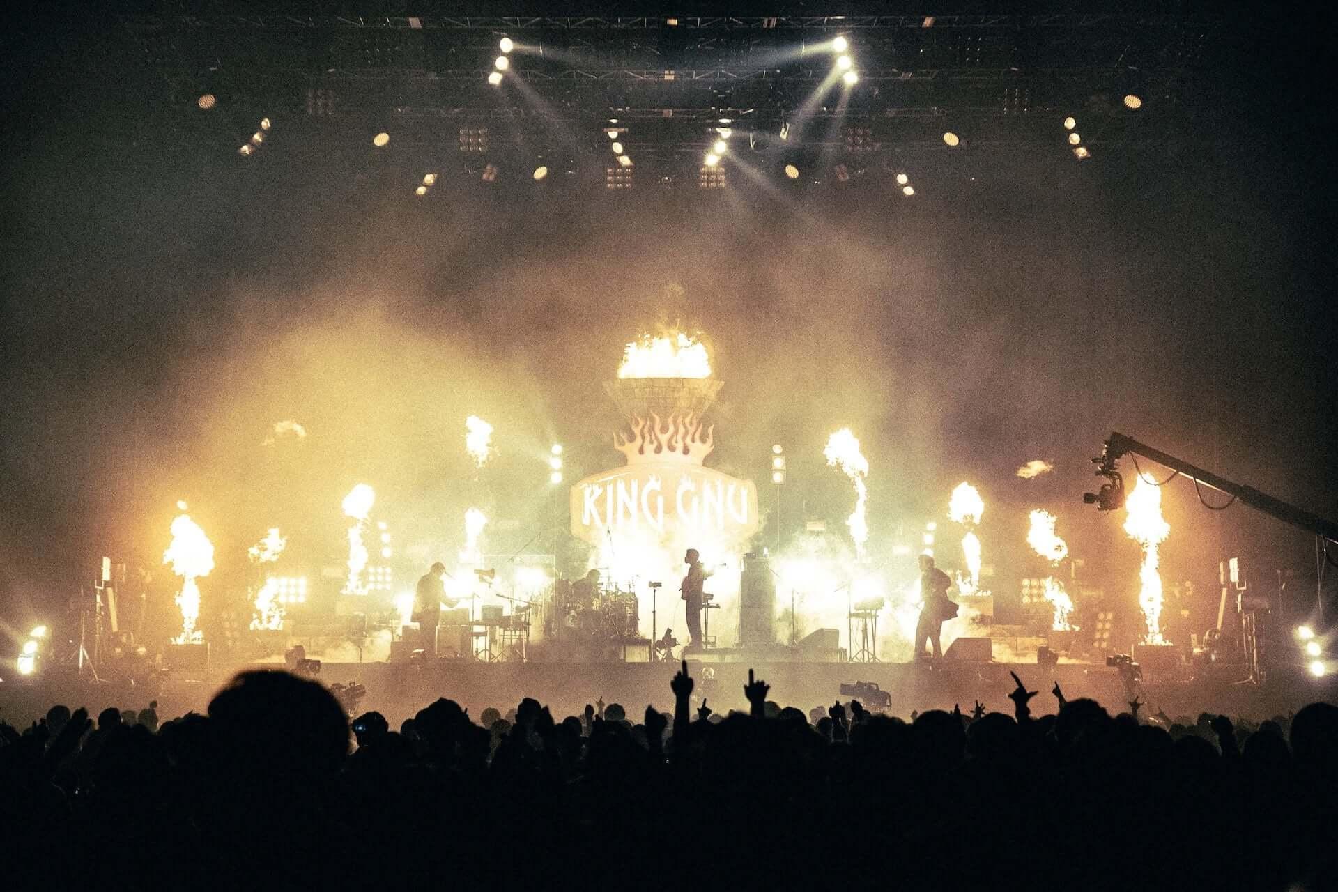 """King Gnu初のアリーナツアー、幕張メッセでは新曲""""千両役者""""も披露!ファイナル公演のライブレポートが到着 music201207_kinggnu_10-1920x1280"""