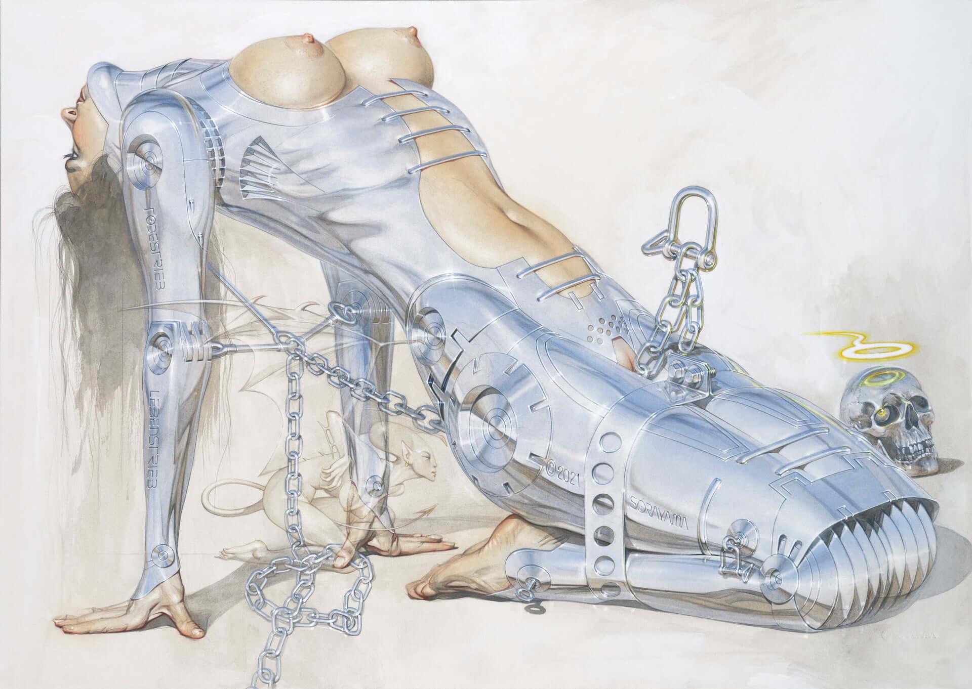 空山基とH.R.ギーガーのコラボ展が渋谷&心斎橋PARCOにて開催決定!NANZUKAと『KALEIDOSCOPE』編集長が共同でキュレーション art201214_giger-sorayama_1-1920x1362
