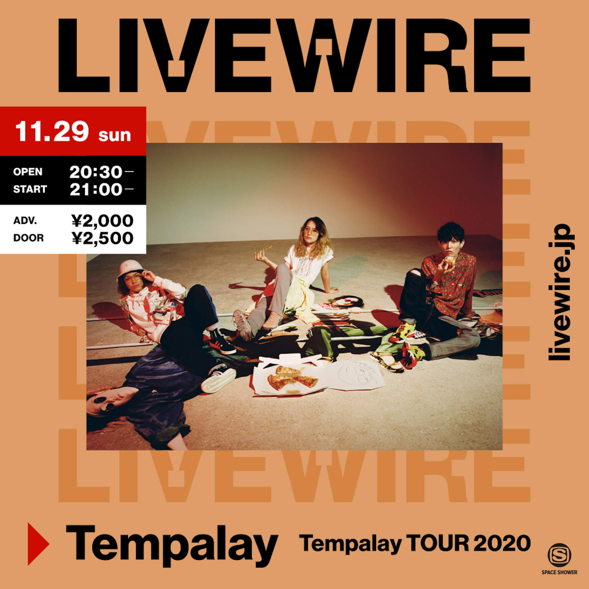 Tempalayワンマンツアー<TOUR 2020>ファイナル公演が<LIVE WIRE>にて生配信決定!舞台演出&映像配信を担当するのはMargt music20201116_tempalay_1