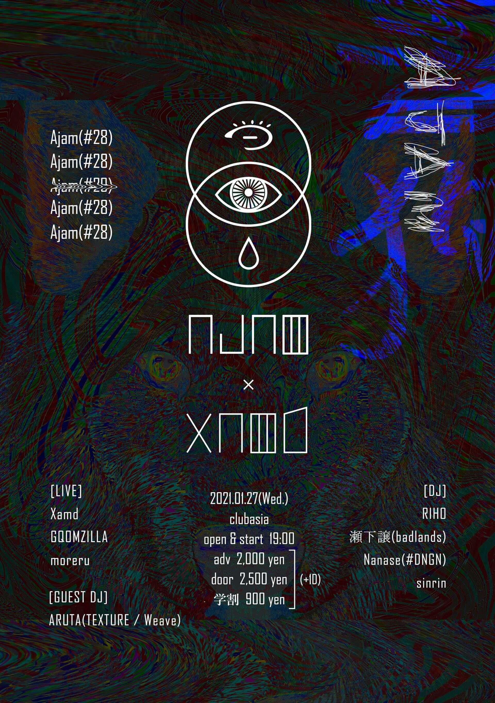 Xamdと渋谷clubasia<Ajam>による共催イベントが開催決定!GQOMZILLA、moreru、ARUTAらも出演 music201218_ajam_1-1920x2730