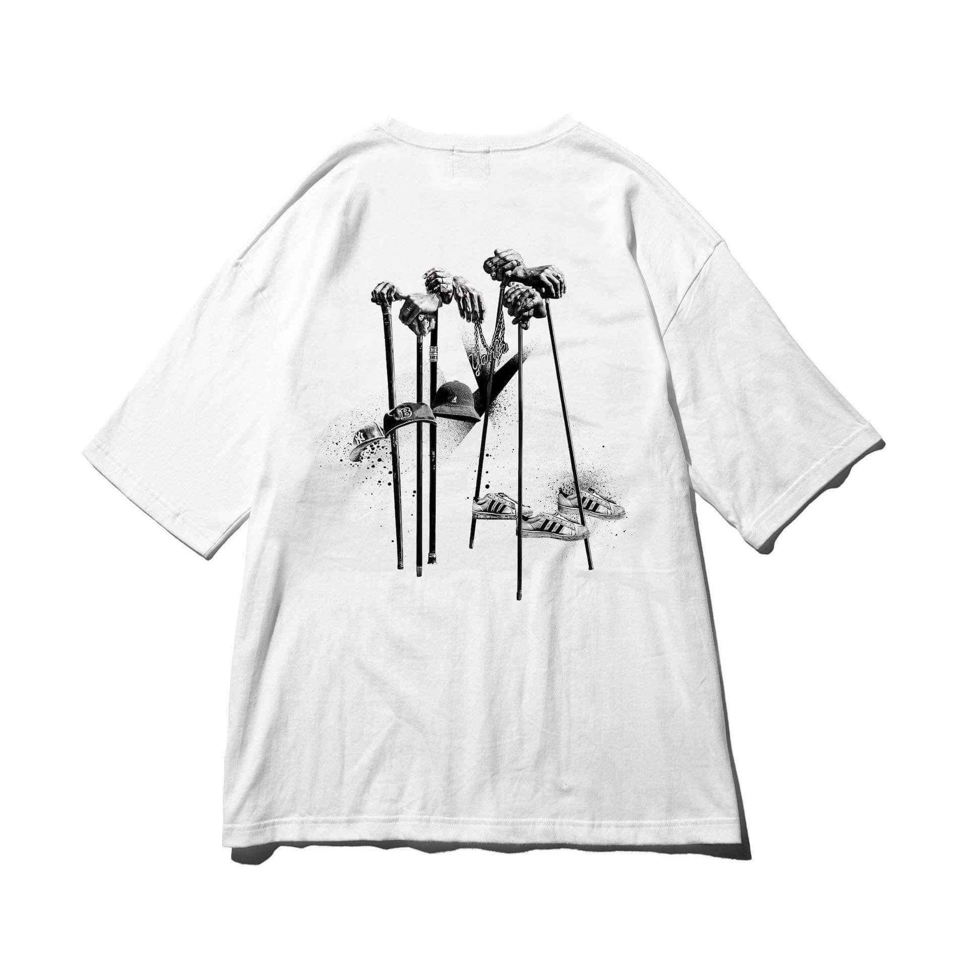 """スチャダラパーとライムスターによるコラボ曲""""Forever Young""""のTシャツがリリース!ビッグシルエットの白/黒ボディが登場 lf201224_sdp-rhymester_4-1920x1920"""