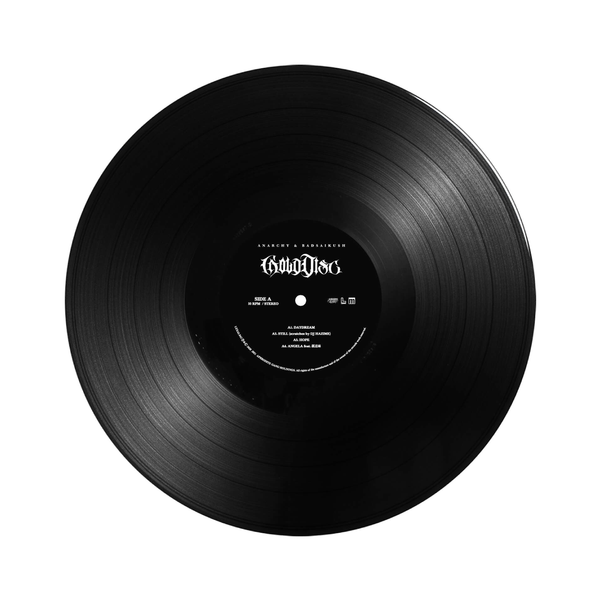 ANARCHYとBADASAIKUSHのコラボEP『GOLD DISC』がアナログ化決定!GREEN ASSASSIN DOLLARが手がけたインストも収録 music210107_anarchy_badasaikush_1