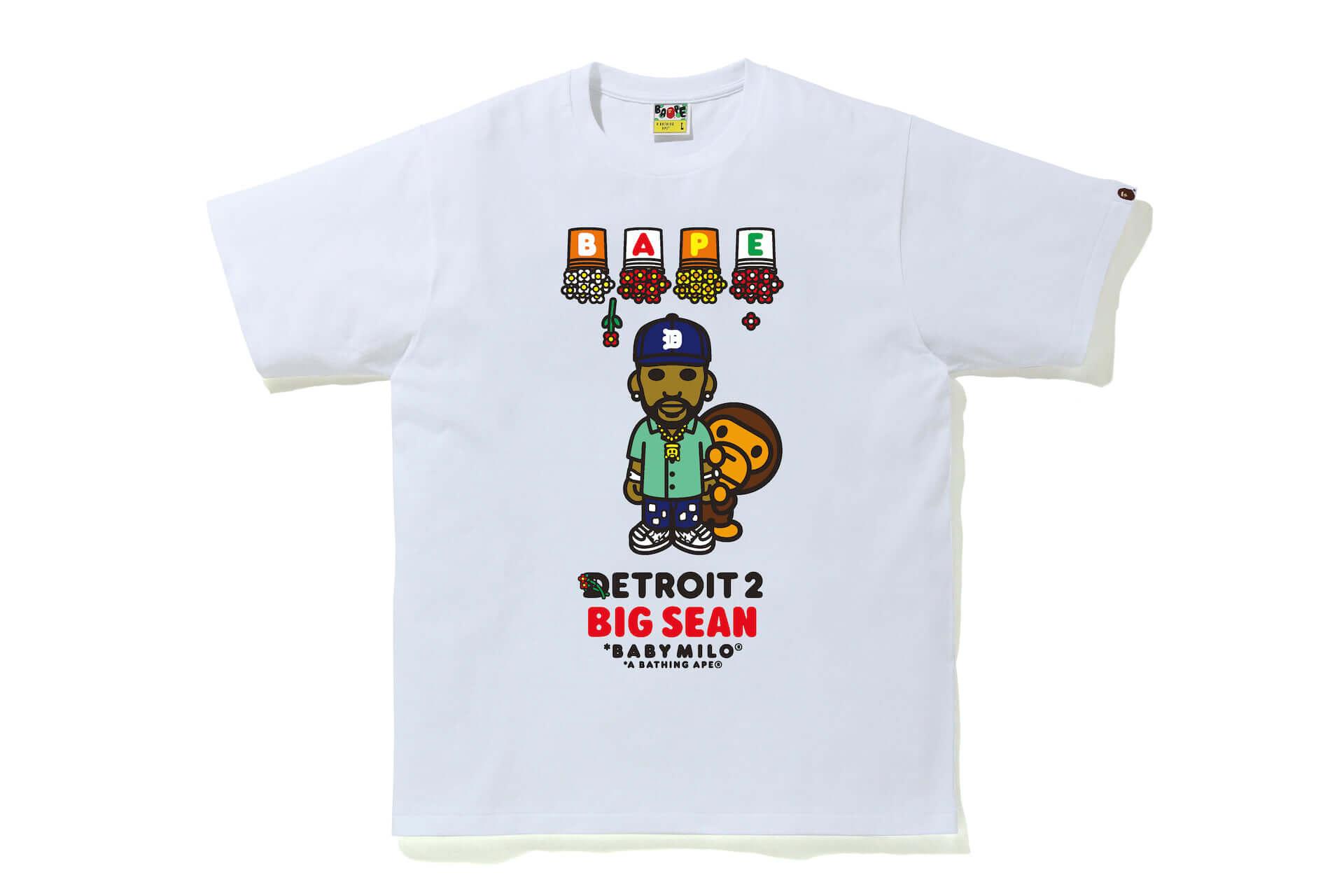 Big SeanとA BATHING APE(R)による最新コラボTシャツが発売決定!アルバム『DETROIT 2』のアートワークがBABY MILO(R)スタイルに lf210113_bape-bigsean_2-1920x1280