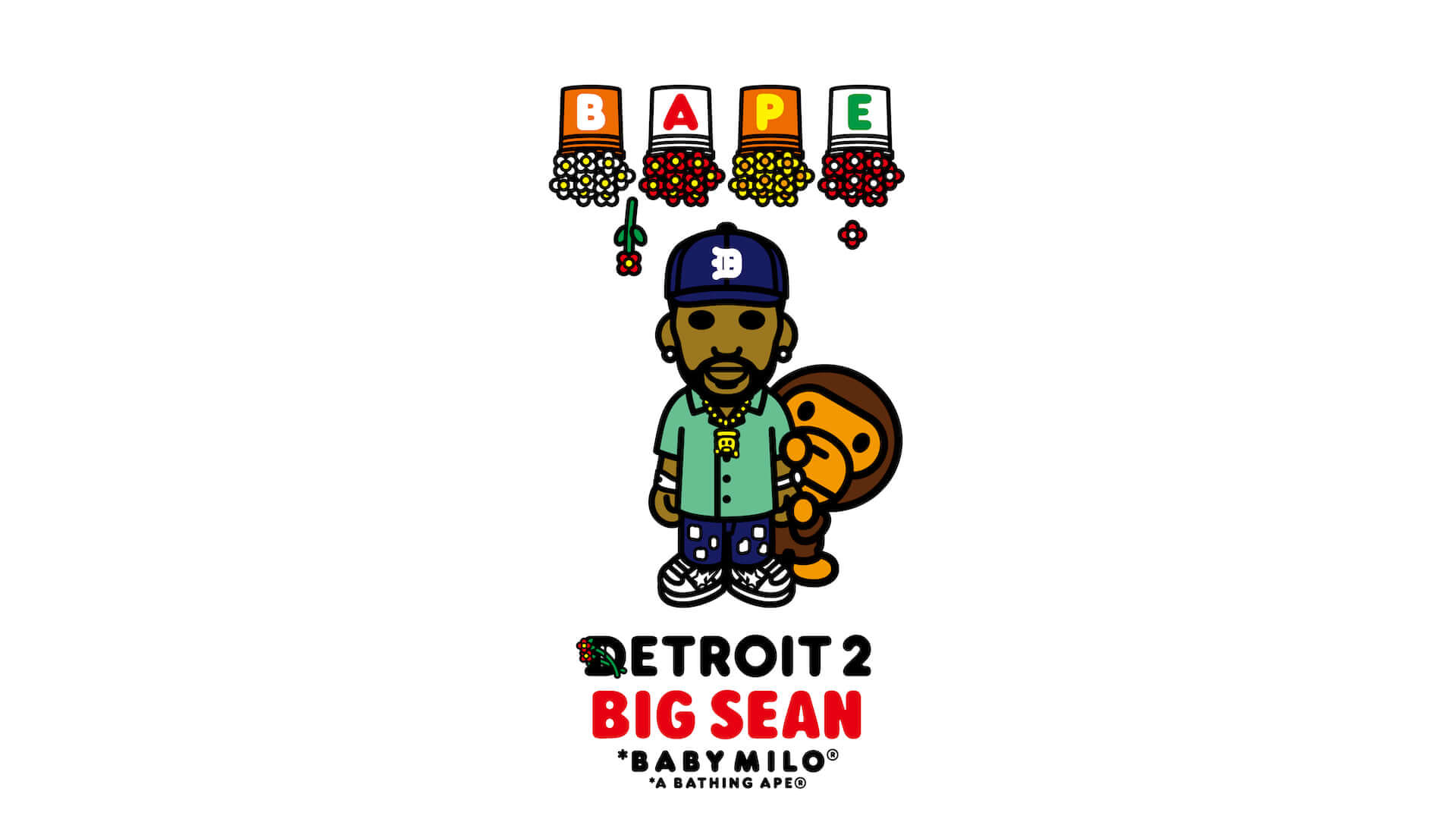 Big SeanとA BATHING APE(R)による最新コラボTシャツが発売決定!アルバム『DETROIT 2』のアートワークがBABY MILO(R)スタイルに lf210113_bape-bigsean_5-1920x1080