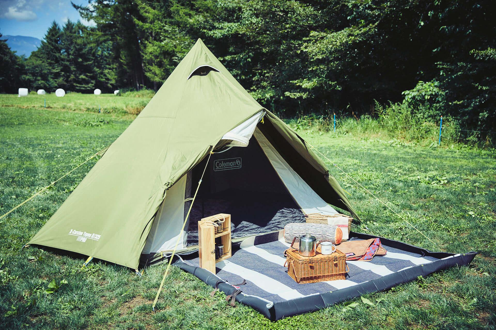 ソロキャンプにもおすすめなテント、ヘキサタープがコールマンから登場!『ツーリングドーム』『ヘキサライトⅡ』など全4種が発売決定 lf210114_coleman_3-1920x1279