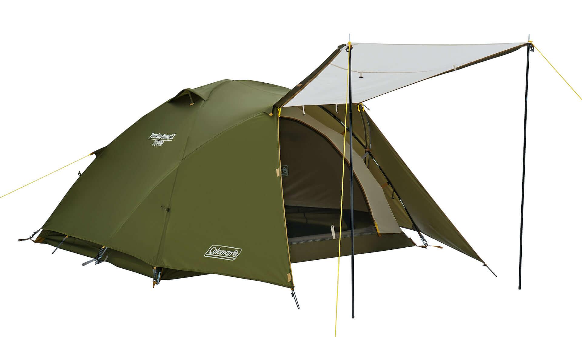 ソロキャンプにもおすすめなテント、ヘキサタープがコールマンから登場!『ツーリングドーム』『ヘキサライトⅡ』など全4種が発売決定 lf210114_coleman_4-1920x1112