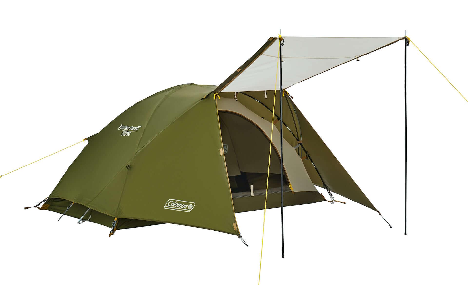 ソロキャンプにもおすすめなテント、ヘキサタープがコールマンから登場!『ツーリングドーム』『ヘキサライトⅡ』など全4種が発売決定 lf210114_coleman_5-1920x1171