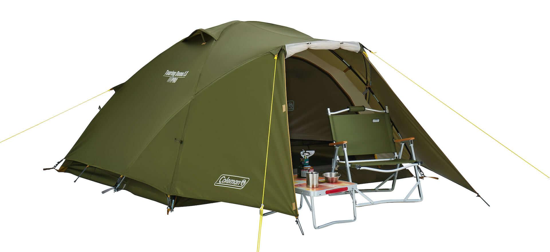 ソロキャンプにもおすすめなテント、ヘキサタープがコールマンから登場!『ツーリングドーム』『ヘキサライトⅡ』など全4種が発売決定 lf210114_coleman_6-1920x880