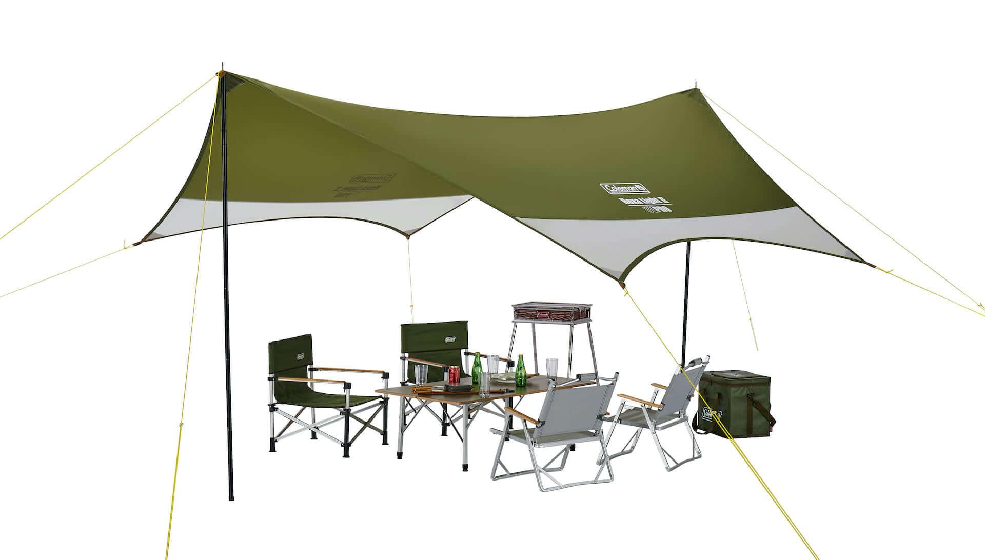 ソロキャンプにもおすすめなテント、ヘキサタープがコールマンから登場!『ツーリングドーム』『ヘキサライトⅡ』など全4種が発売決定 lf210114_coleman_7-1920x1092