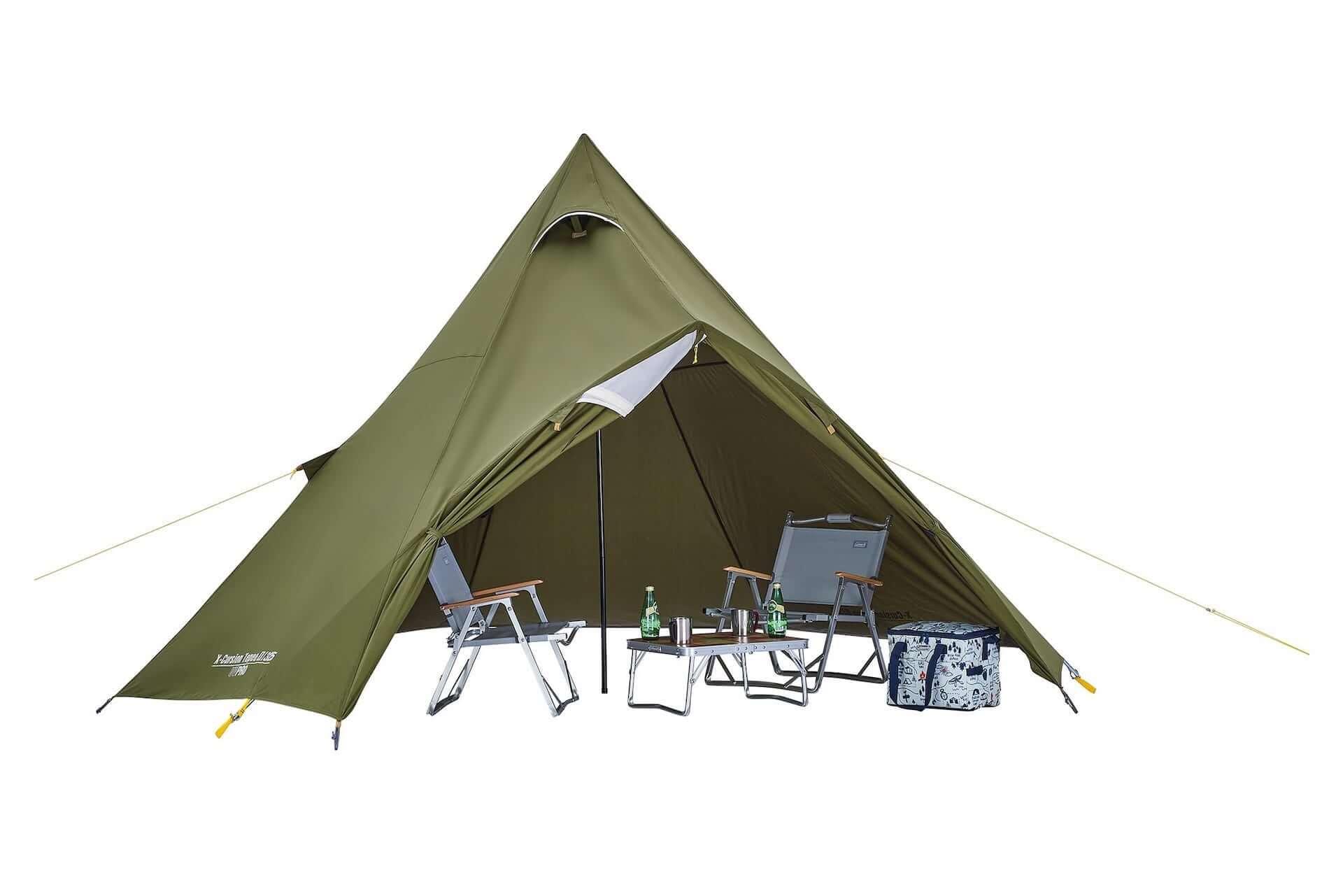 ソロキャンプにもおすすめなテント、ヘキサタープがコールマンから登場!『ツーリングドーム』『ヘキサライトⅡ』など全4種が発売決定 lf210114_coleman_10-1920x1281